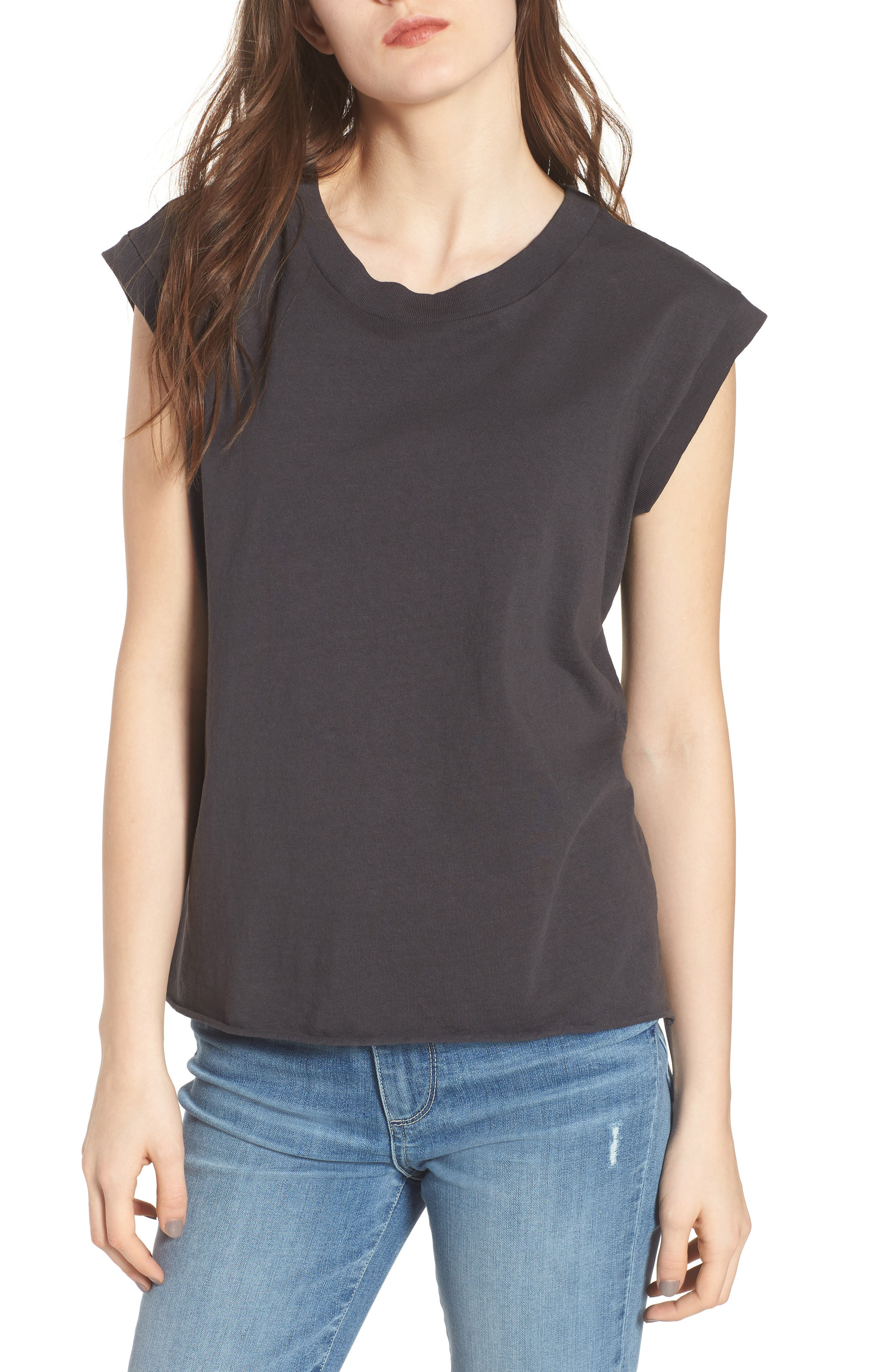 Muscle Tee,                         Main,                         color, Carbon