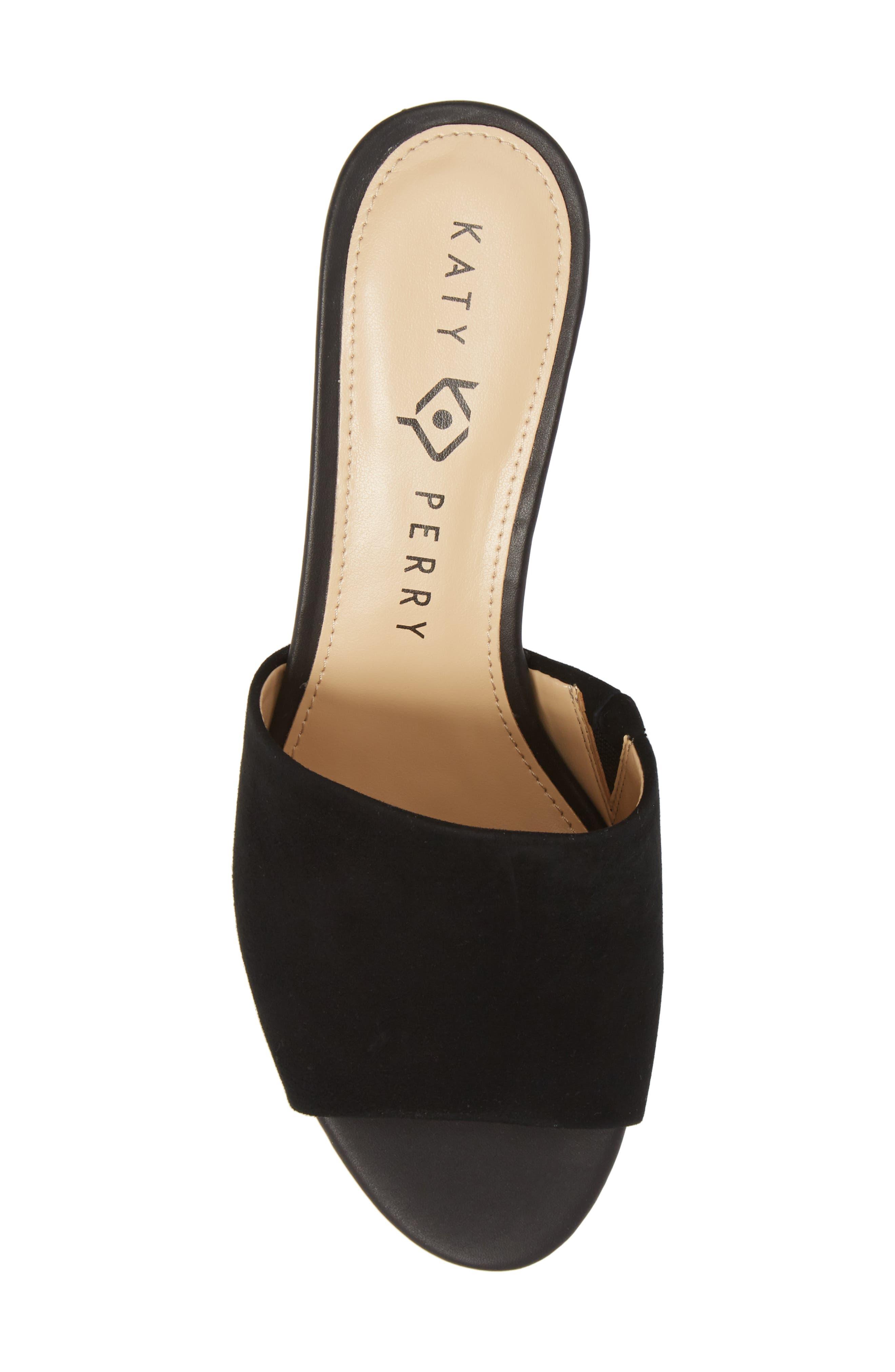 The Kaitlynn Slide Sandal,                             Alternate thumbnail 5, color,                             Black Suede