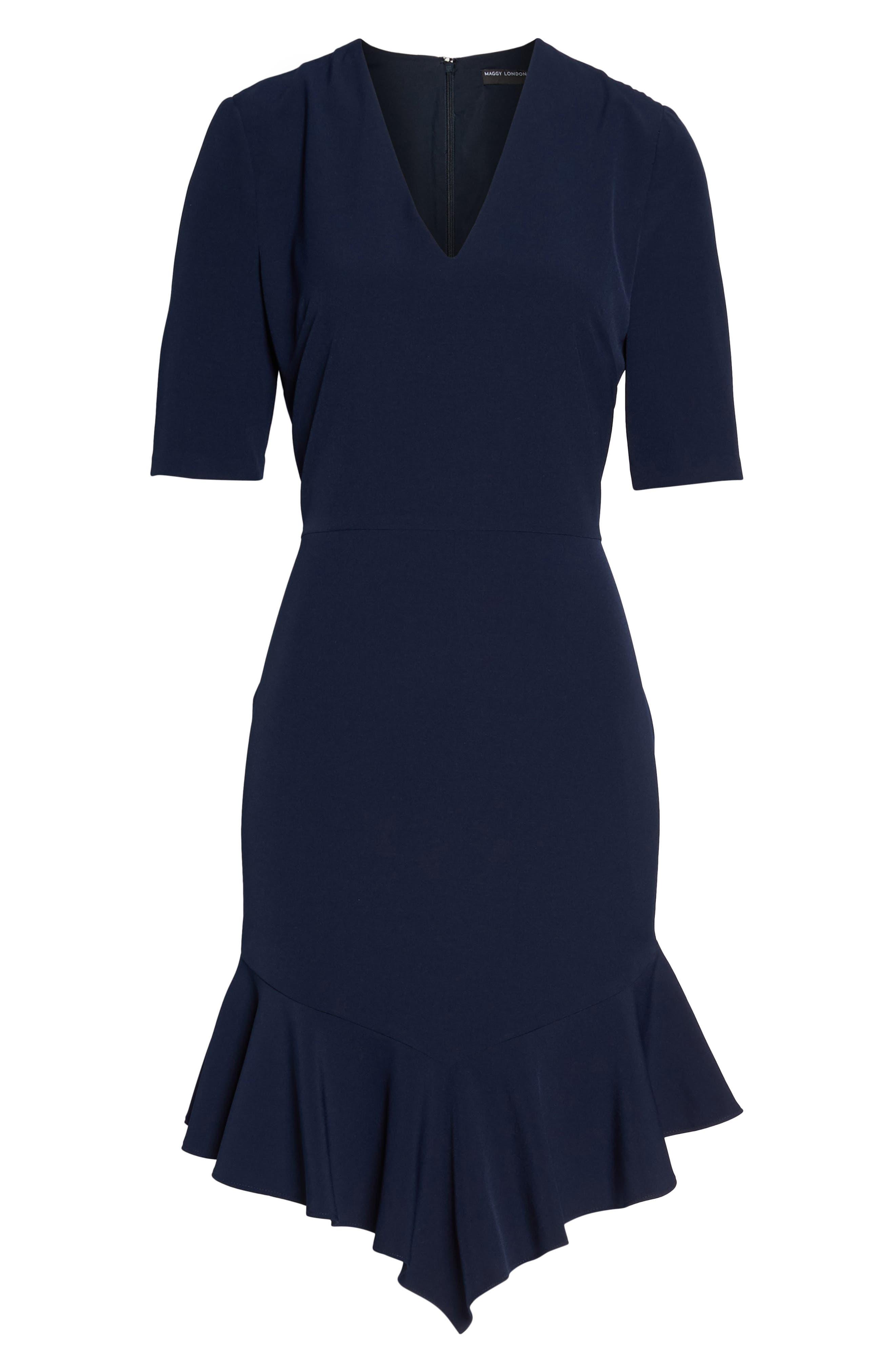 Alternate Image 6  - Maggy London Flounce Hem Sheath Dress