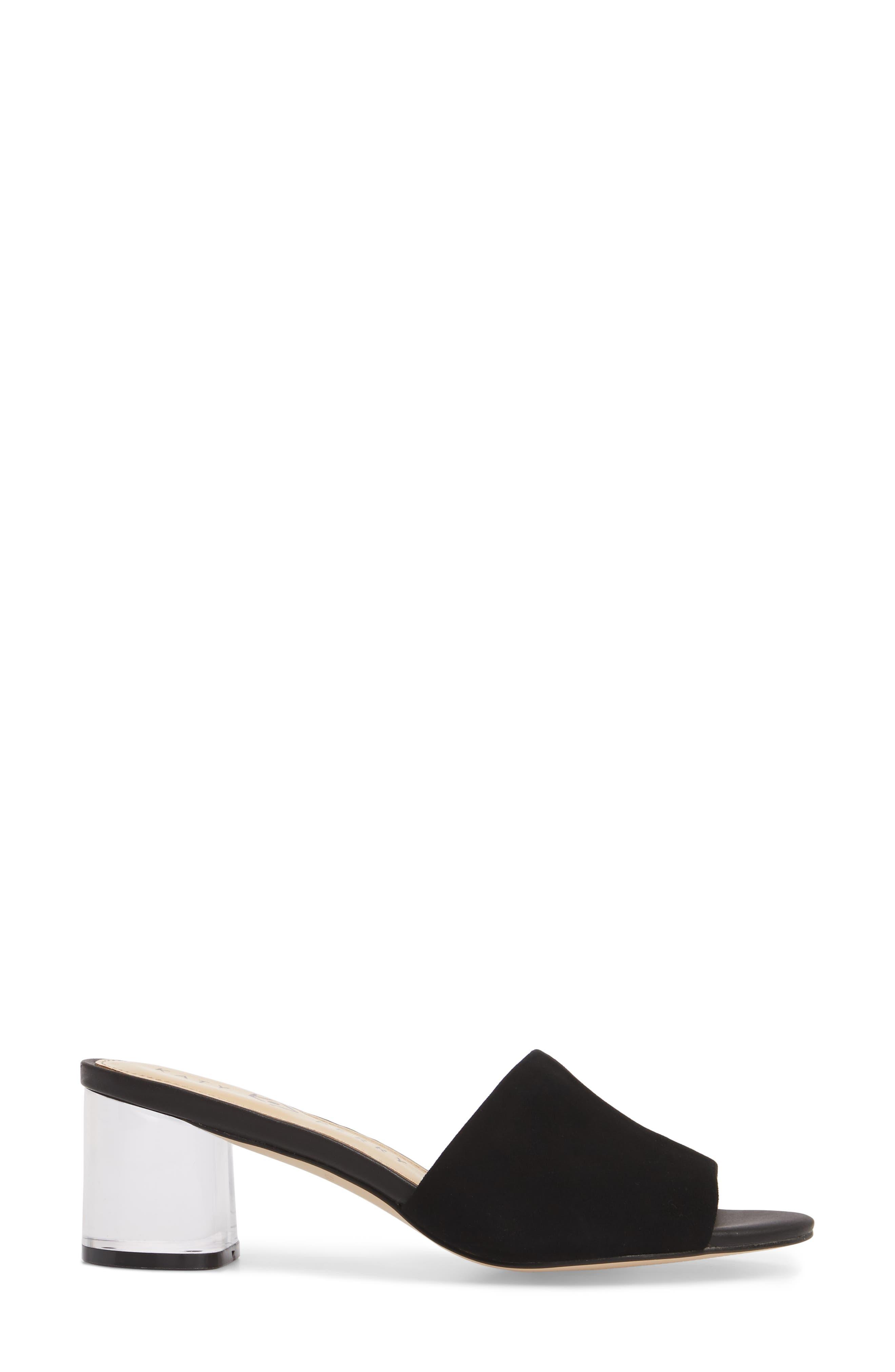 The Kaitlynn Slide Sandal,                             Alternate thumbnail 3, color,                             Black Suede