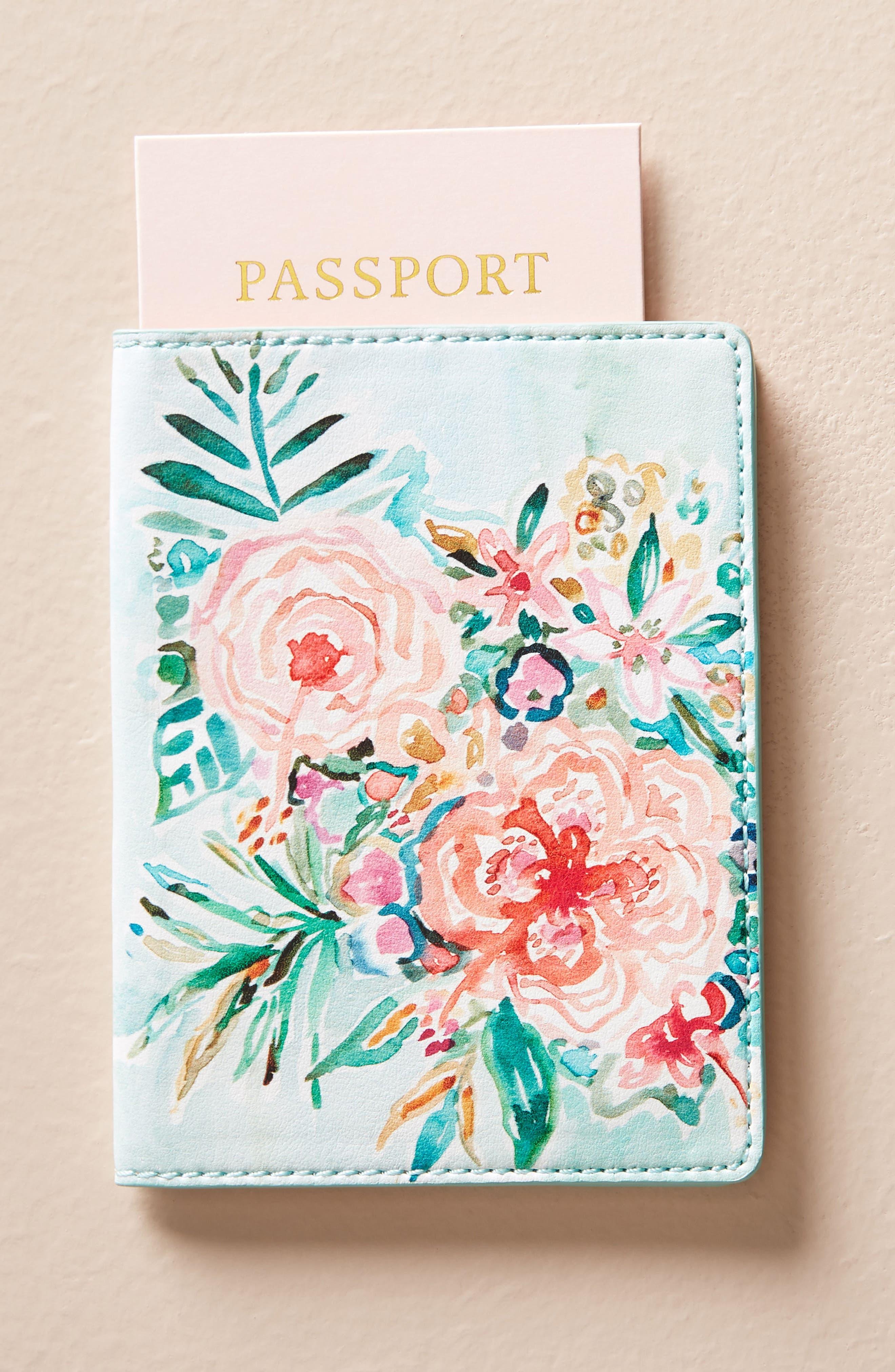Wild At Heart Passport Case,                         Main,                         color, Sky