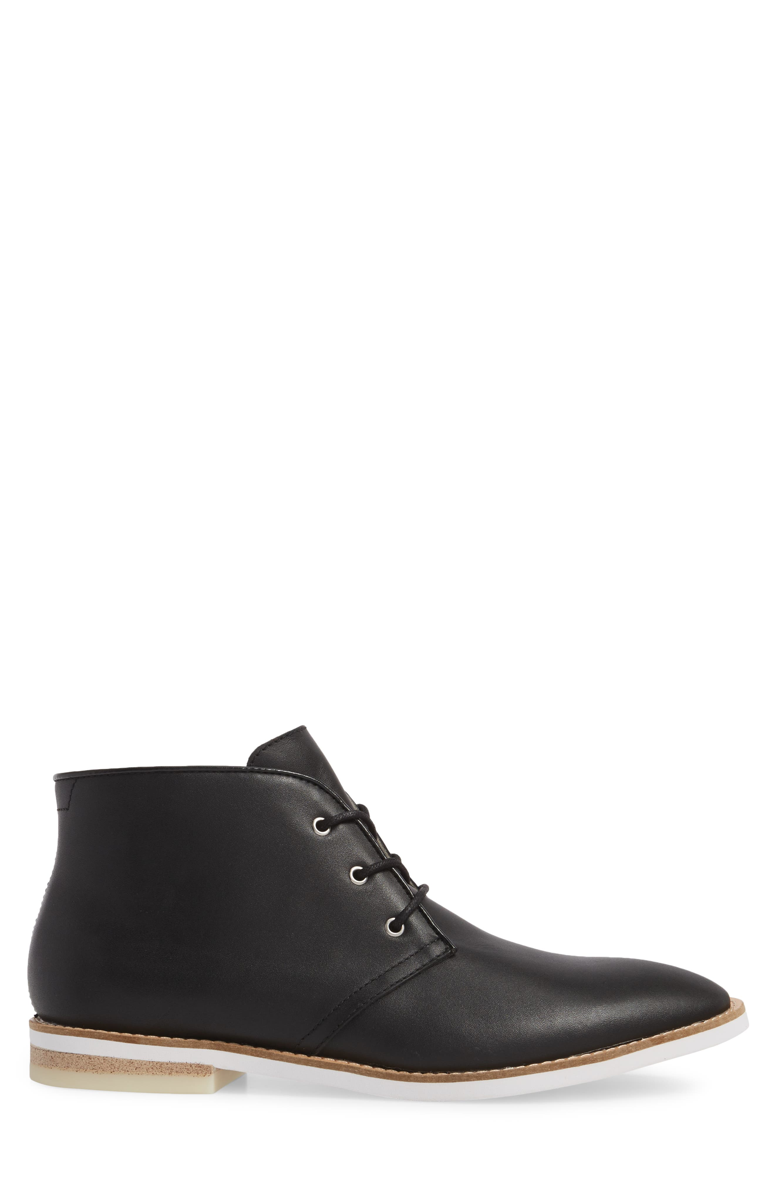 Albe Chukka Boot,                             Alternate thumbnail 3, color,                             Black Leather