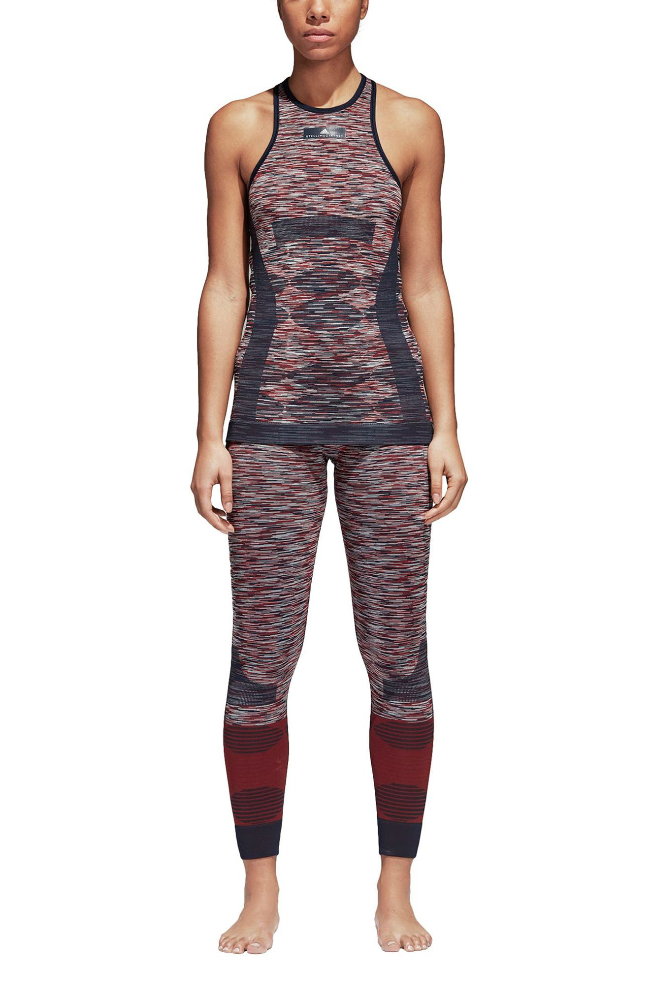 Yoga Seamless Space Dye Leggings,                             Alternate thumbnail 8, color,                             Navy