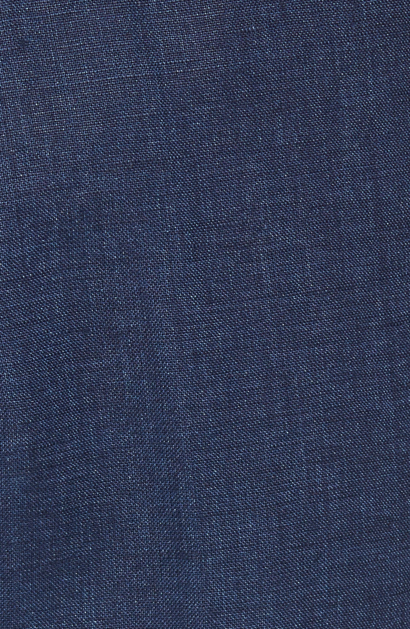 Andrew AIM Flat Front Linen Trousers,                             Alternate thumbnail 5, color,                             Navy