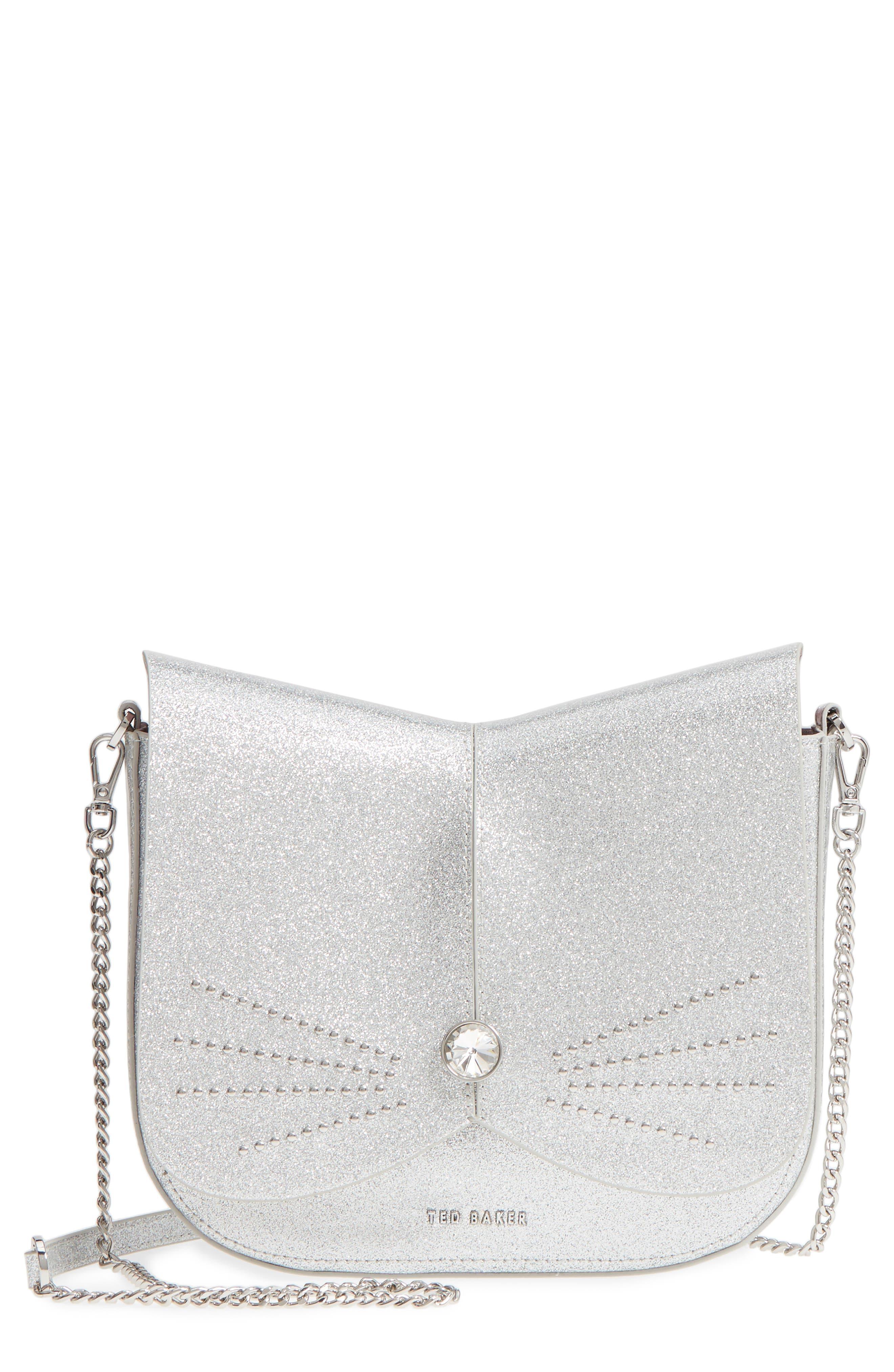 Ted Baker London Hildaa Glitter Faux Leather Crossbody Bag