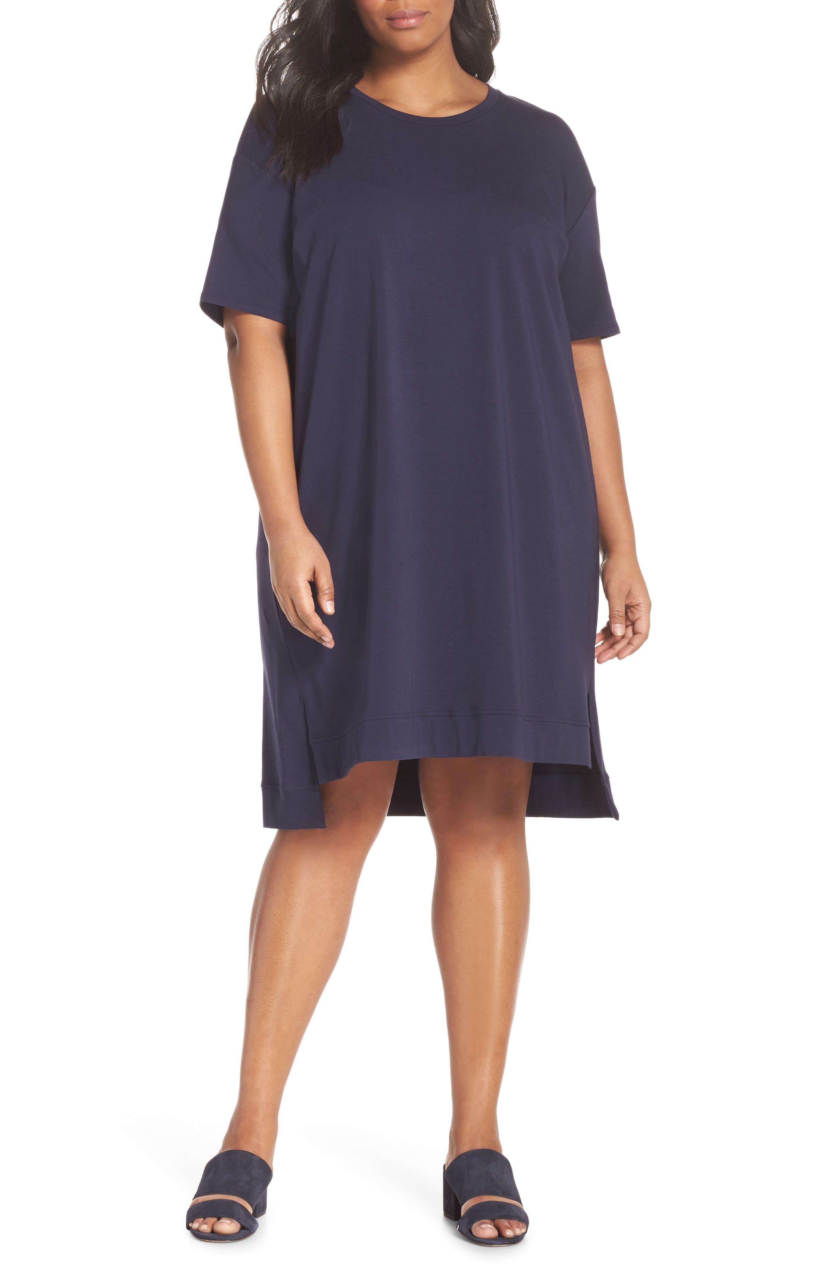 Knit Jersey Dress,                             Main thumbnail 1, color,                             Midnight