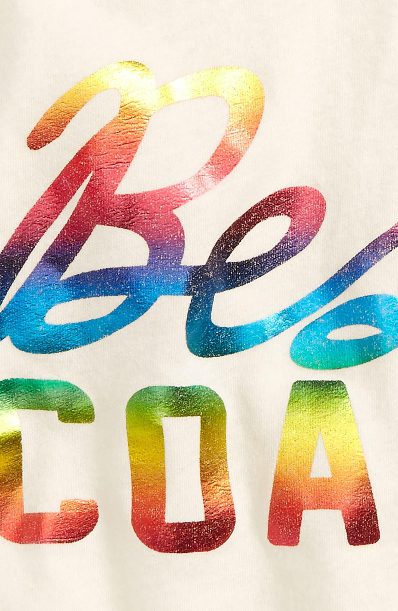 Best Coast Rainbow Print Tank,                             Alternate thumbnail 2, color,                             White