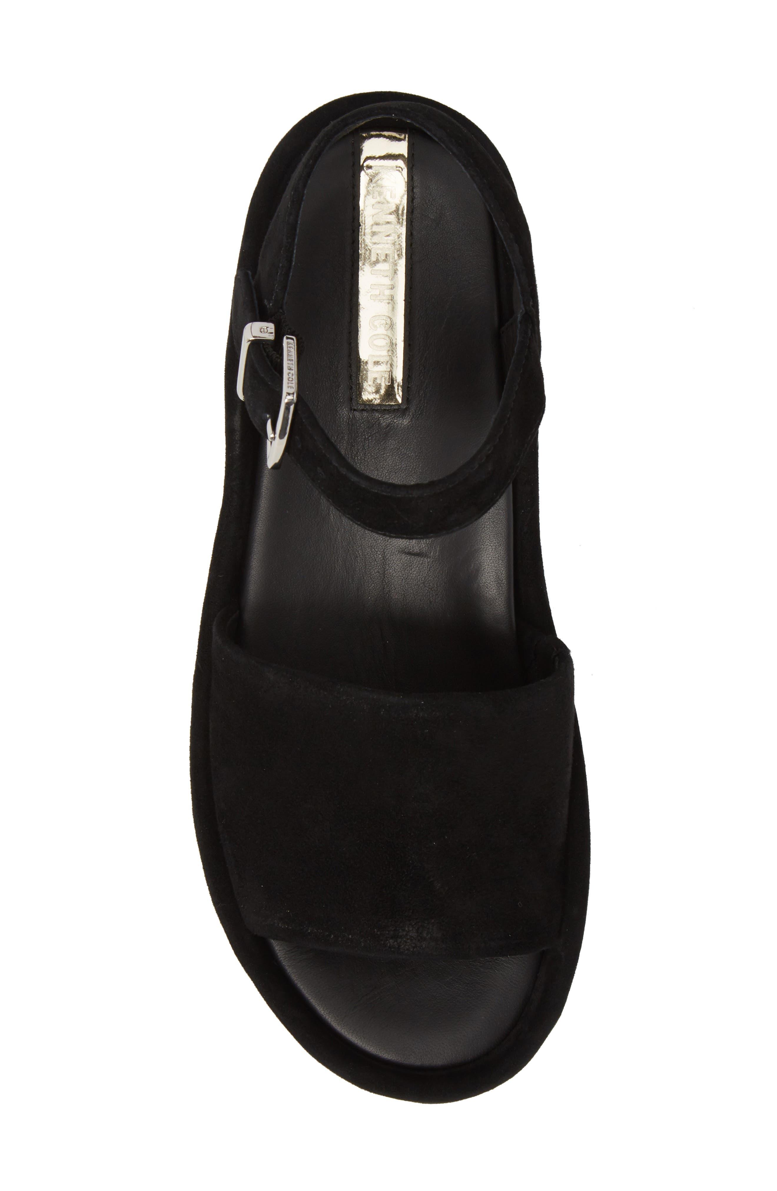 Danton Studs Platform Sandal,                             Alternate thumbnail 5, color,                             Black Suede