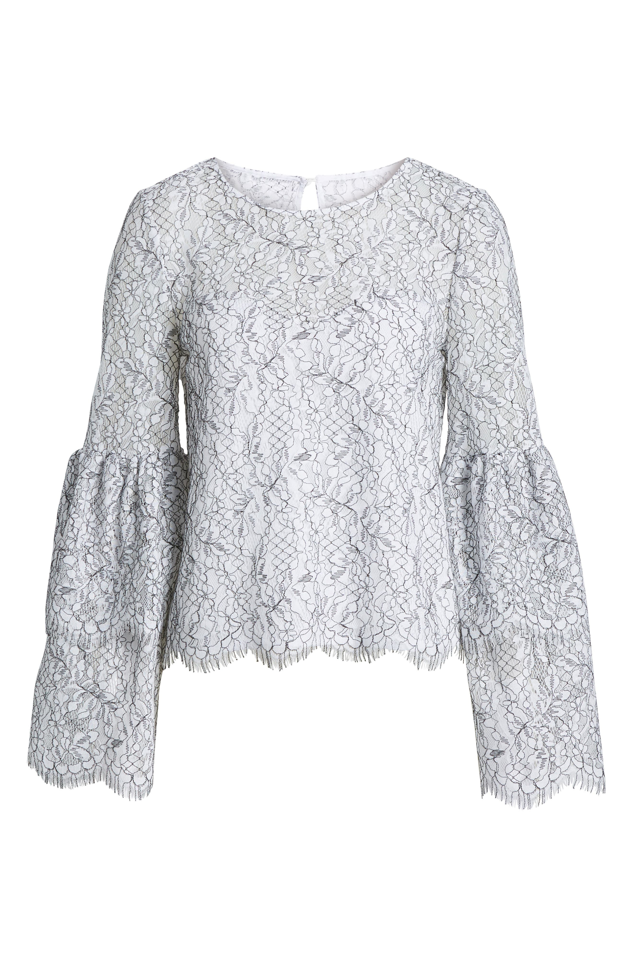 Basswood Lace Top,                             Alternate thumbnail 6, color,                             Ivory