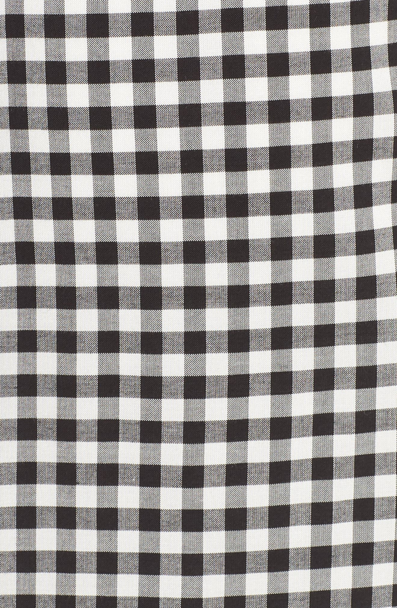 Eddie Gingham Dress,                             Alternate thumbnail 5, color,                             Black