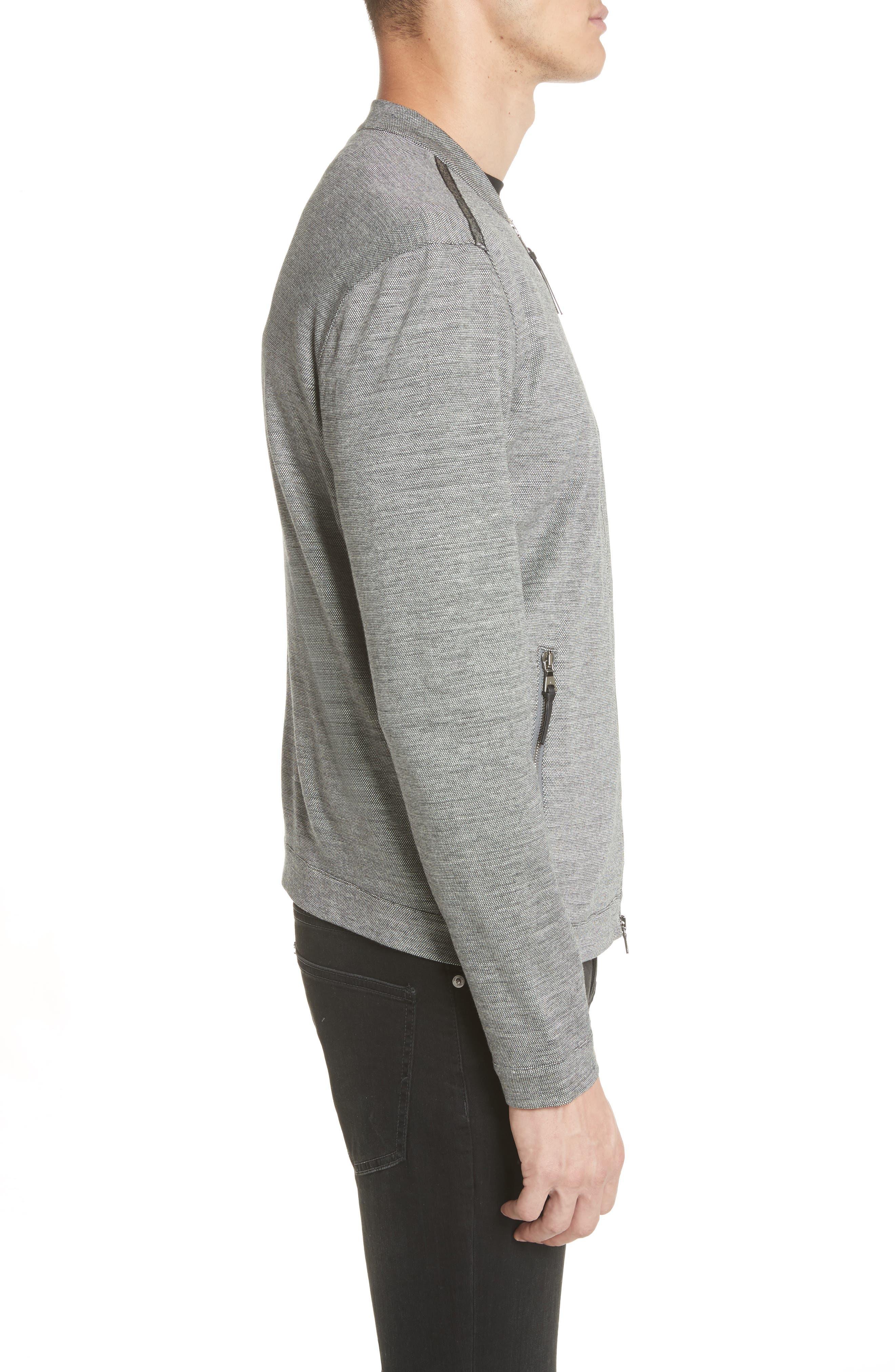 Zip Baseball Jacket,                             Alternate thumbnail 4, color,                             Med Grey