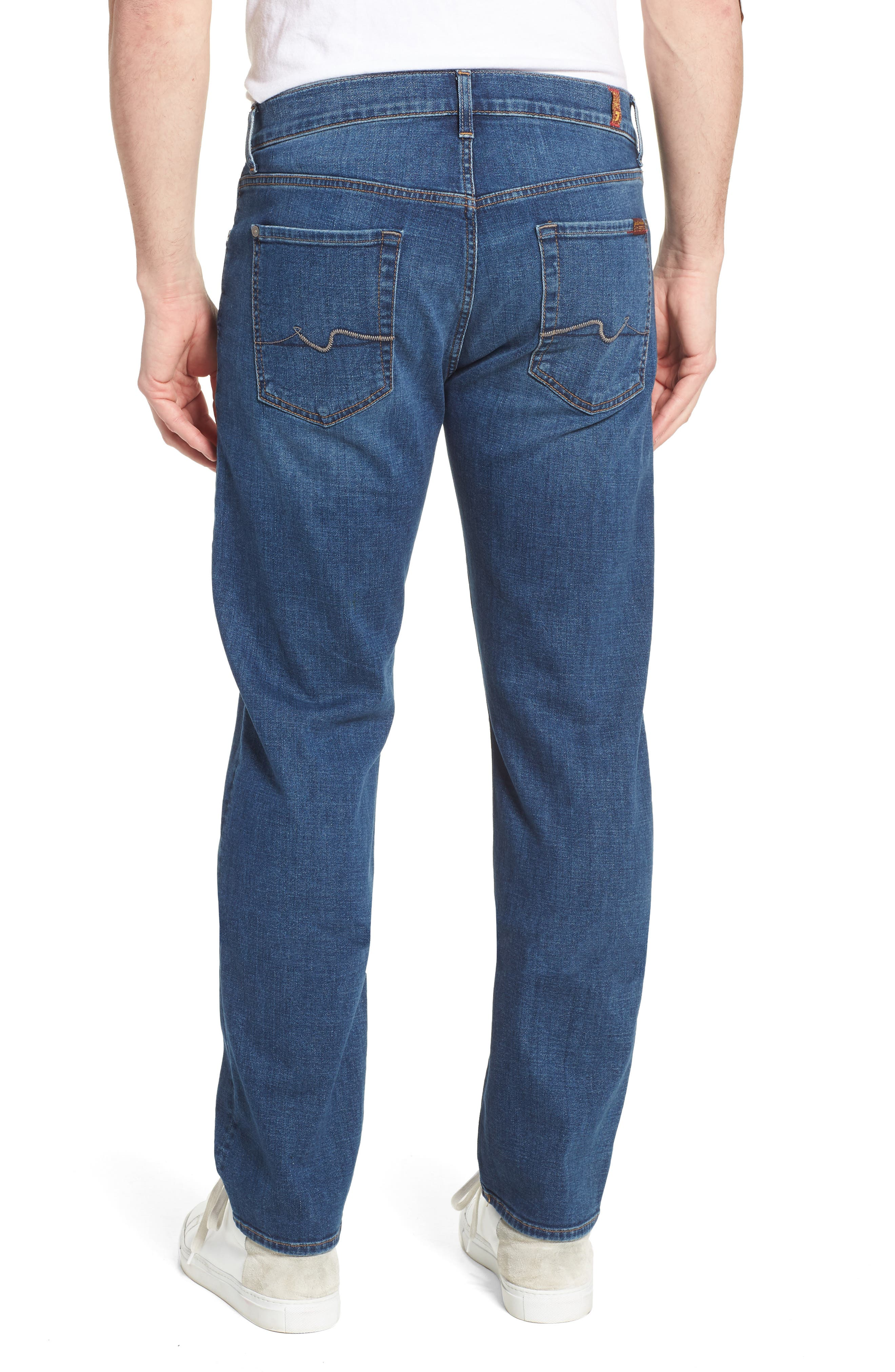 Standard Straight Leg Jeans,                             Alternate thumbnail 2, color,                             Oasis