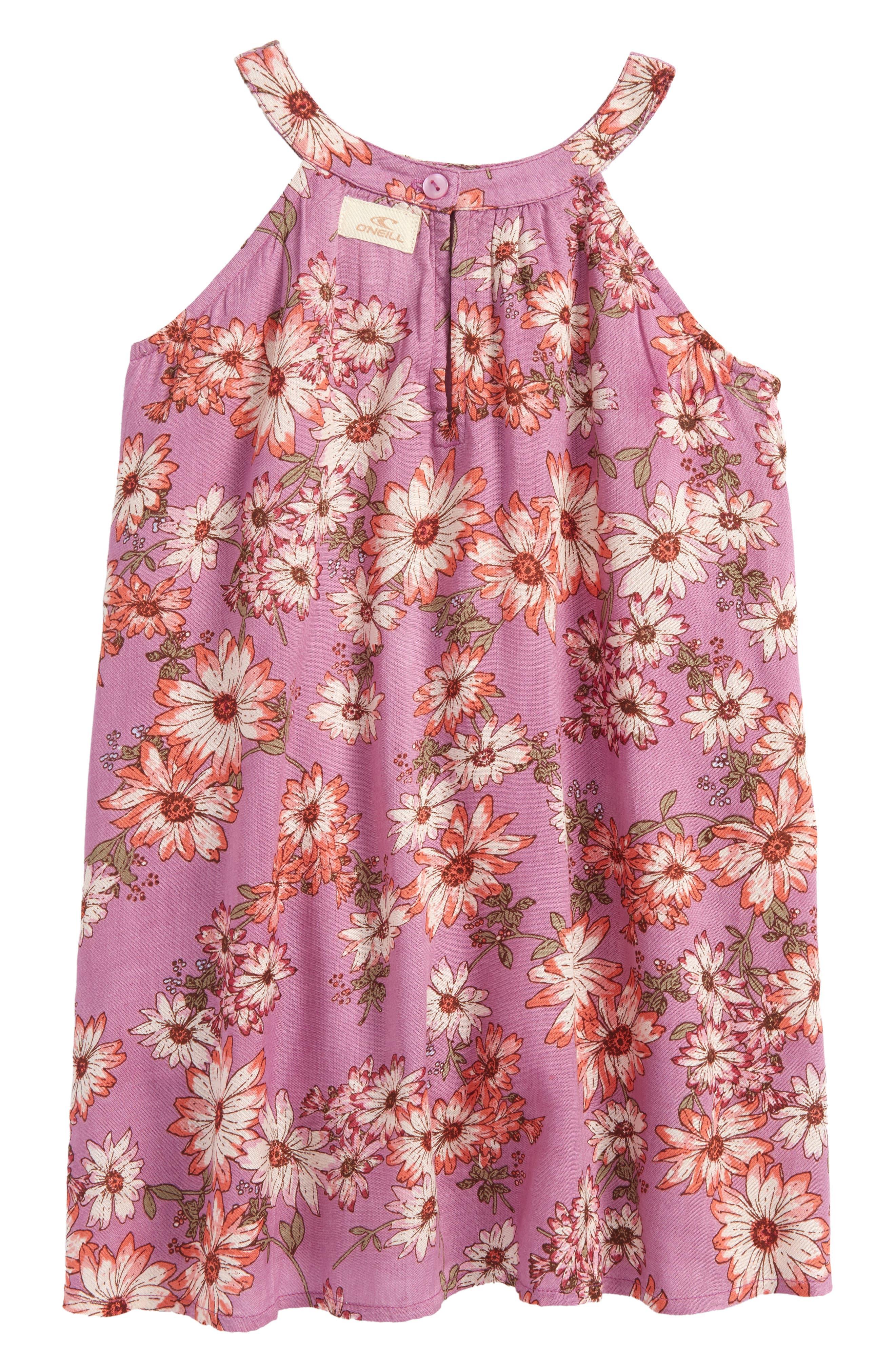Sallie Floral Dress,                             Main thumbnail 1, color,                             Dusty Lavender