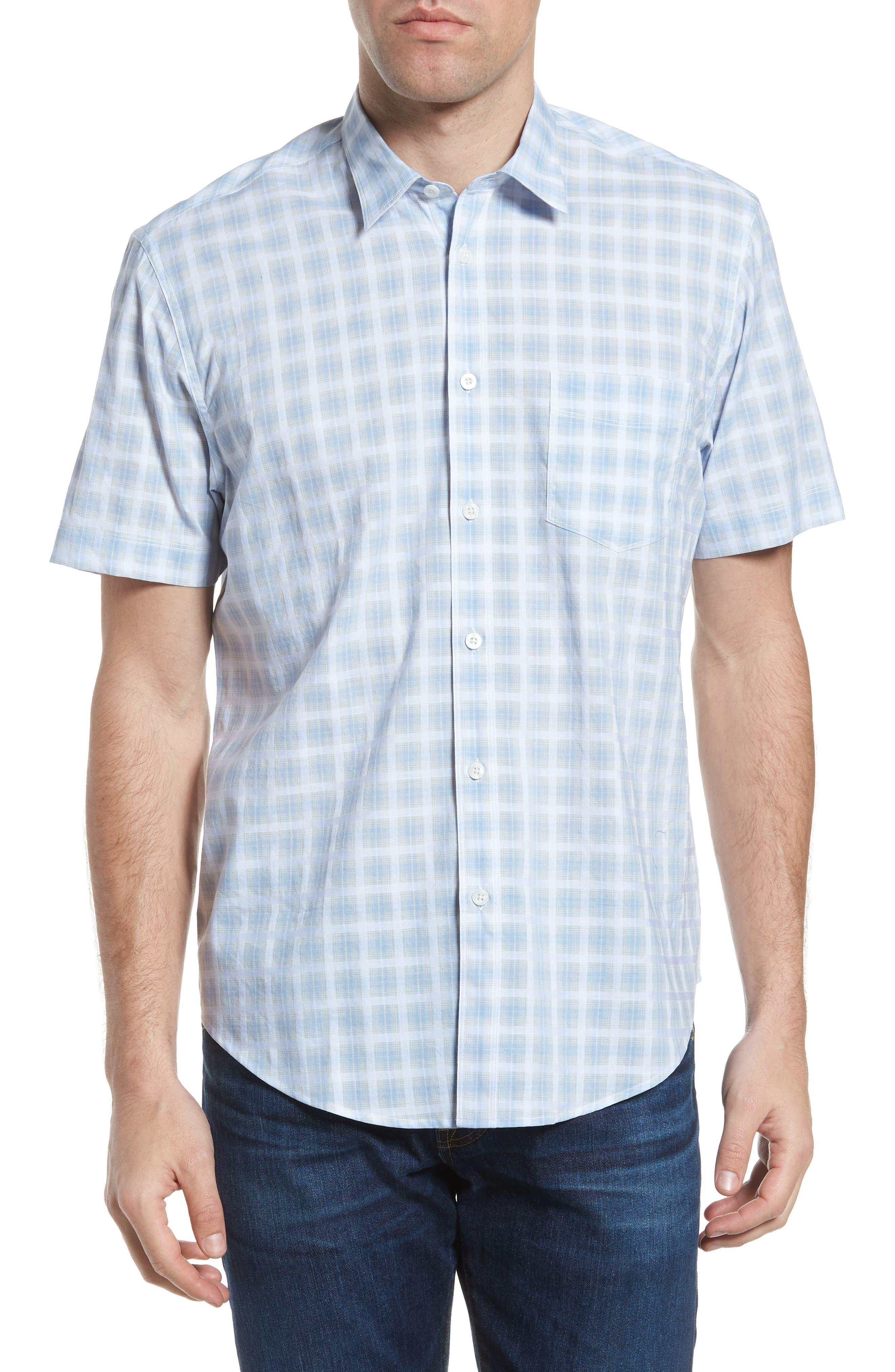 Ponto Regular Fit Check Sport Shirt,                         Main,                         color, Sky