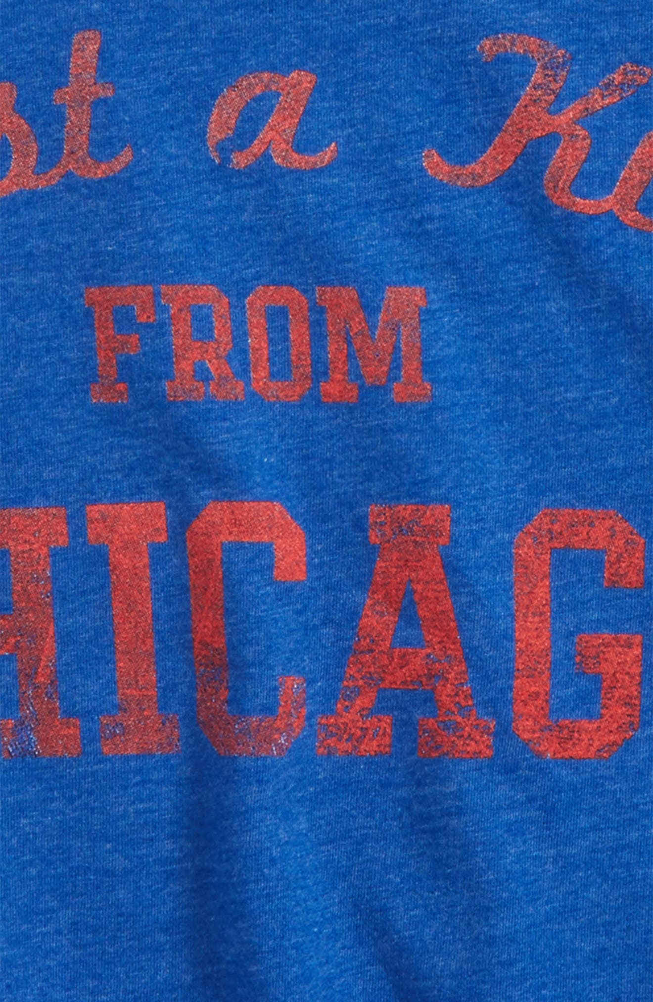 Just a Kid from Chicago Graphic T-Shirt,                             Alternate thumbnail 2, color,                             Royal/ Red