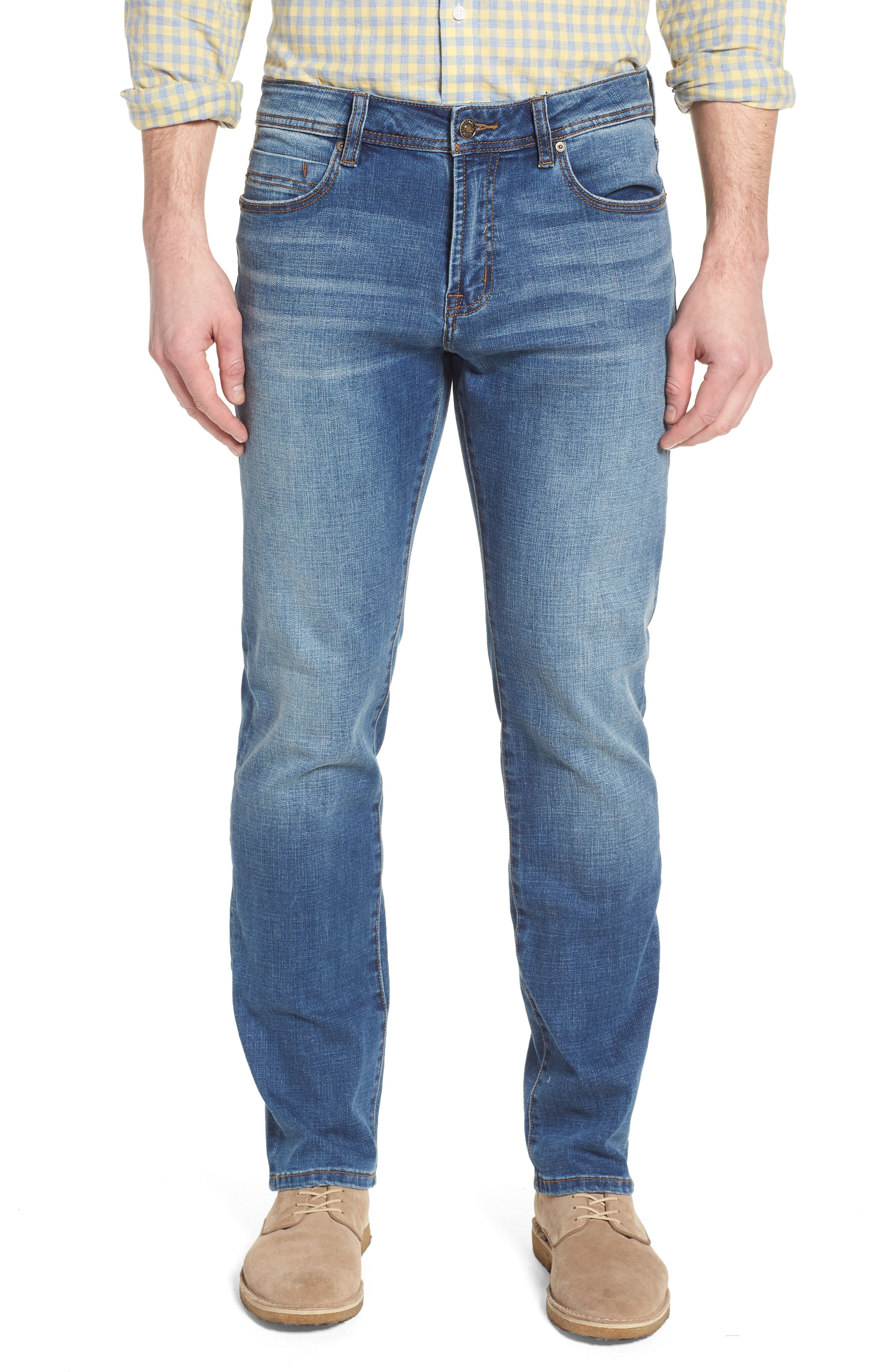 Jeans Co. Regent Relaxed Straight Leg Jeans,                             Main thumbnail 1, color,                             Highlander Mid