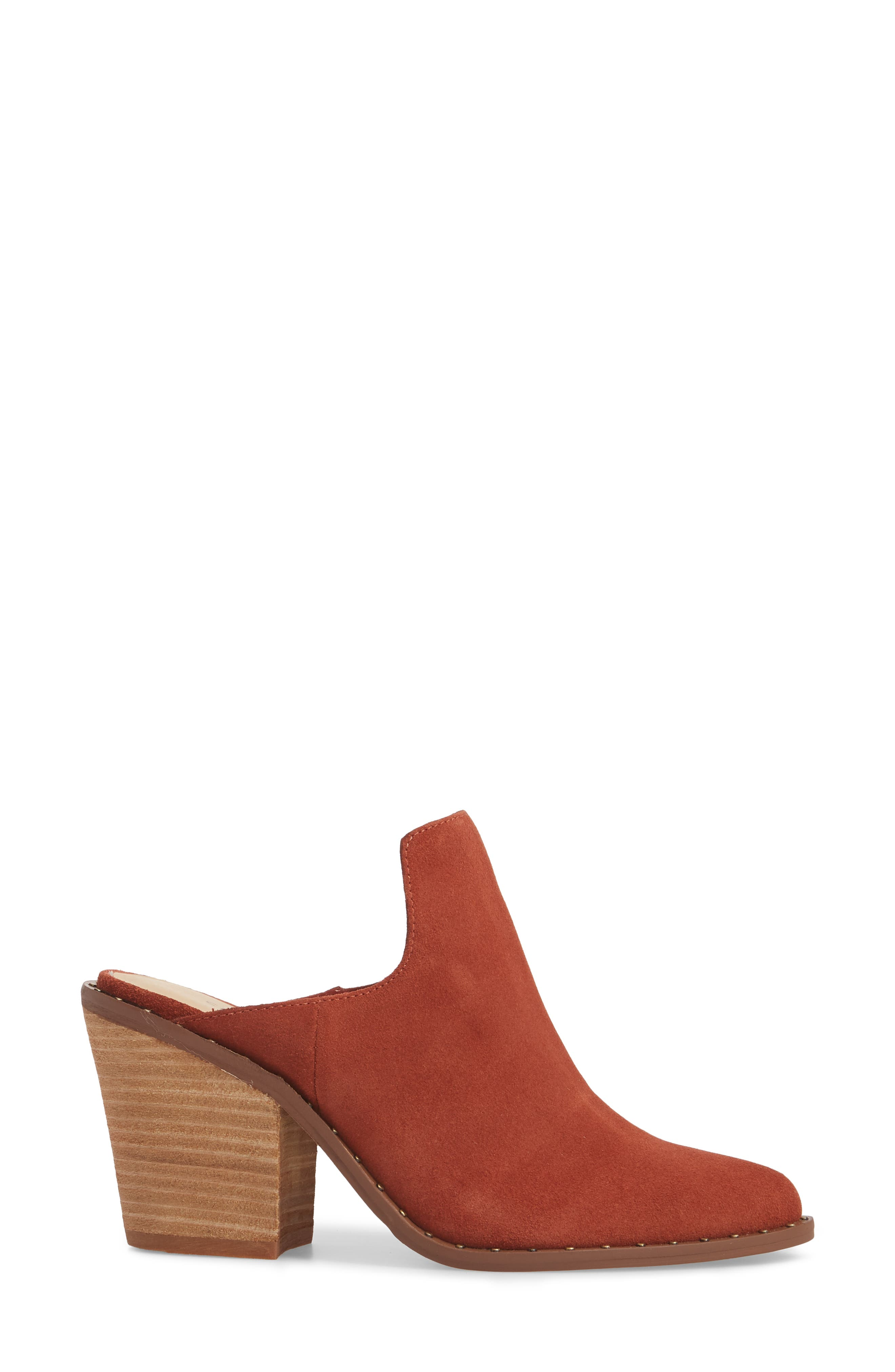 Springfield Mule Bootie,                             Alternate thumbnail 3, color,                             Clay