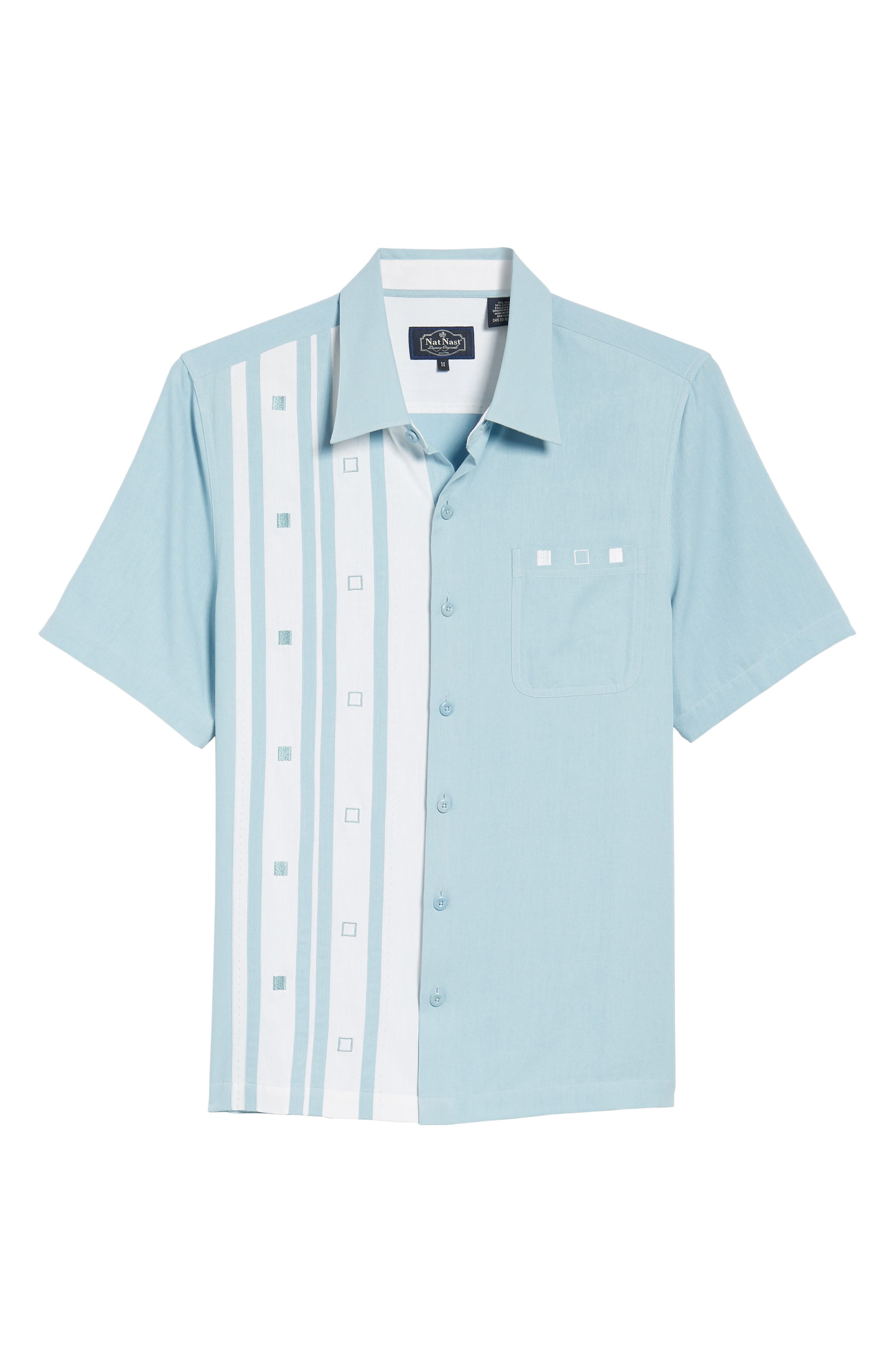 Retromod Camp Shirt,                             Alternate thumbnail 6, color,                             Niagra Blue