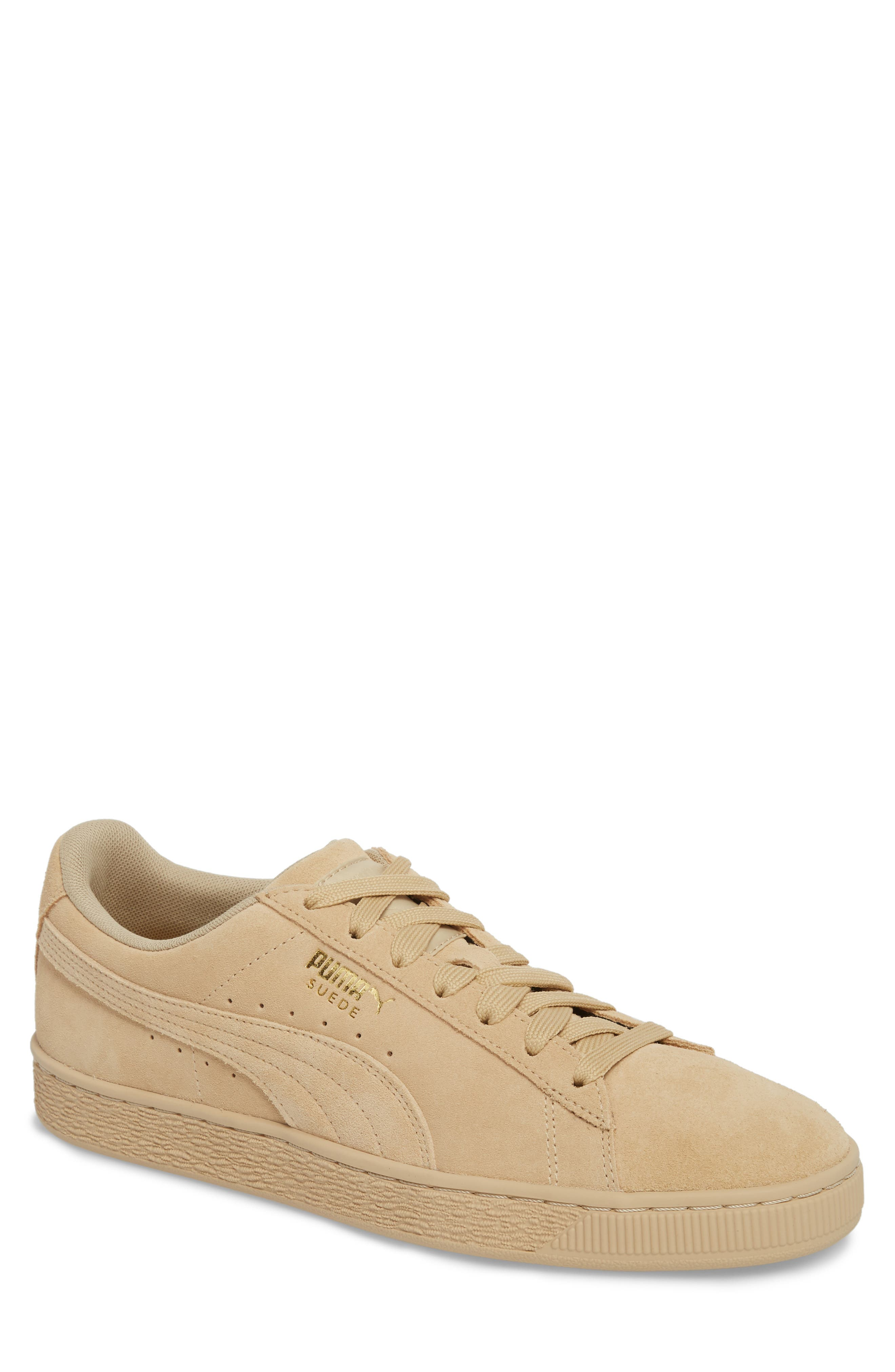 Suede Classic Tonal Sneaker,                             Main thumbnail 1, color,                             Pebble Suede