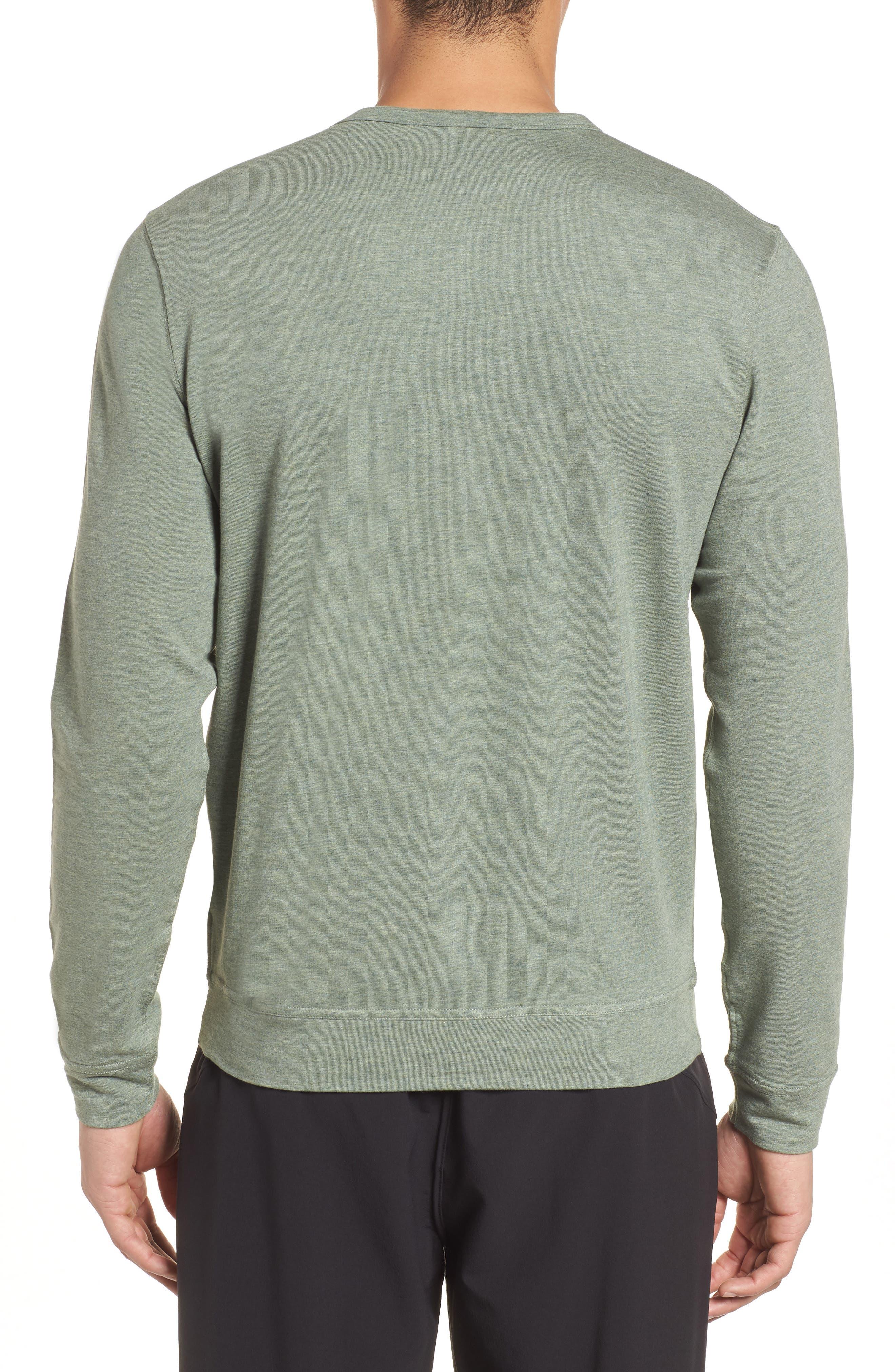 Legacy Crewneck Sweatshirt,                             Alternate thumbnail 2, color,                             Kelp Heather