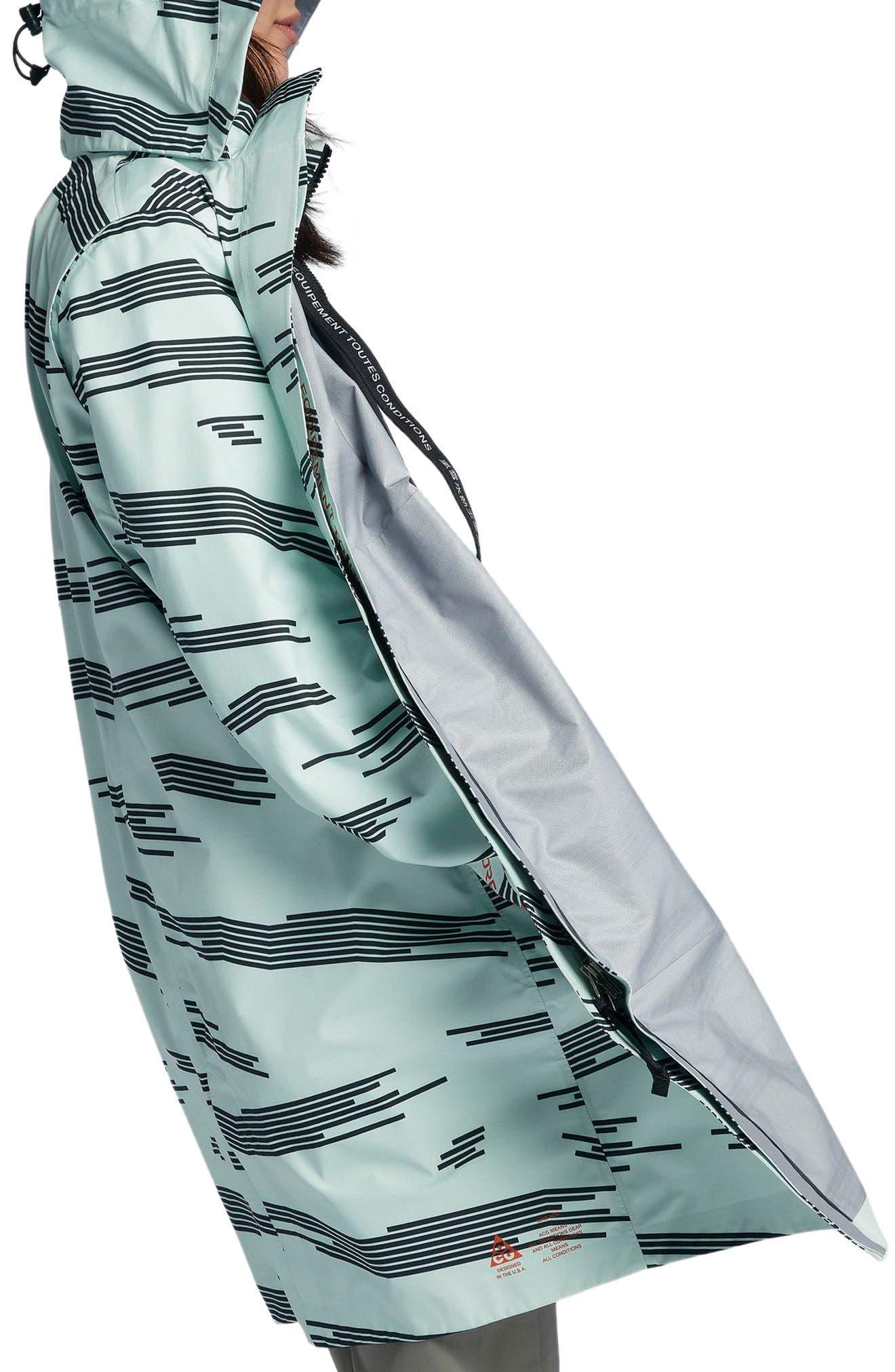 NikeLab ACG 3-in-1 System Women's Coat,                             Alternate thumbnail 4, color,                             Barely Green/ Black