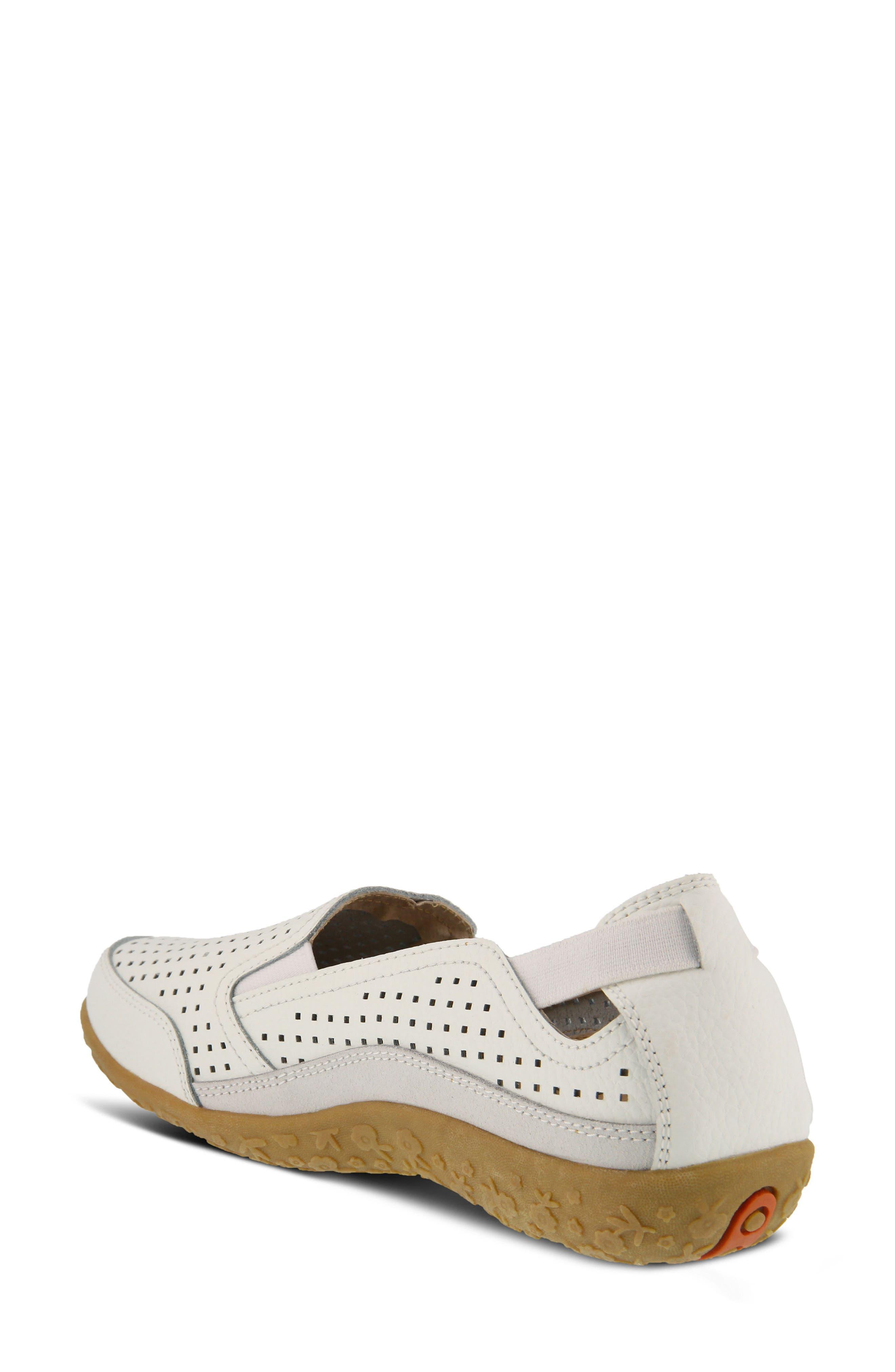 Juhi Flat,                             Alternate thumbnail 2, color,                             White Leather