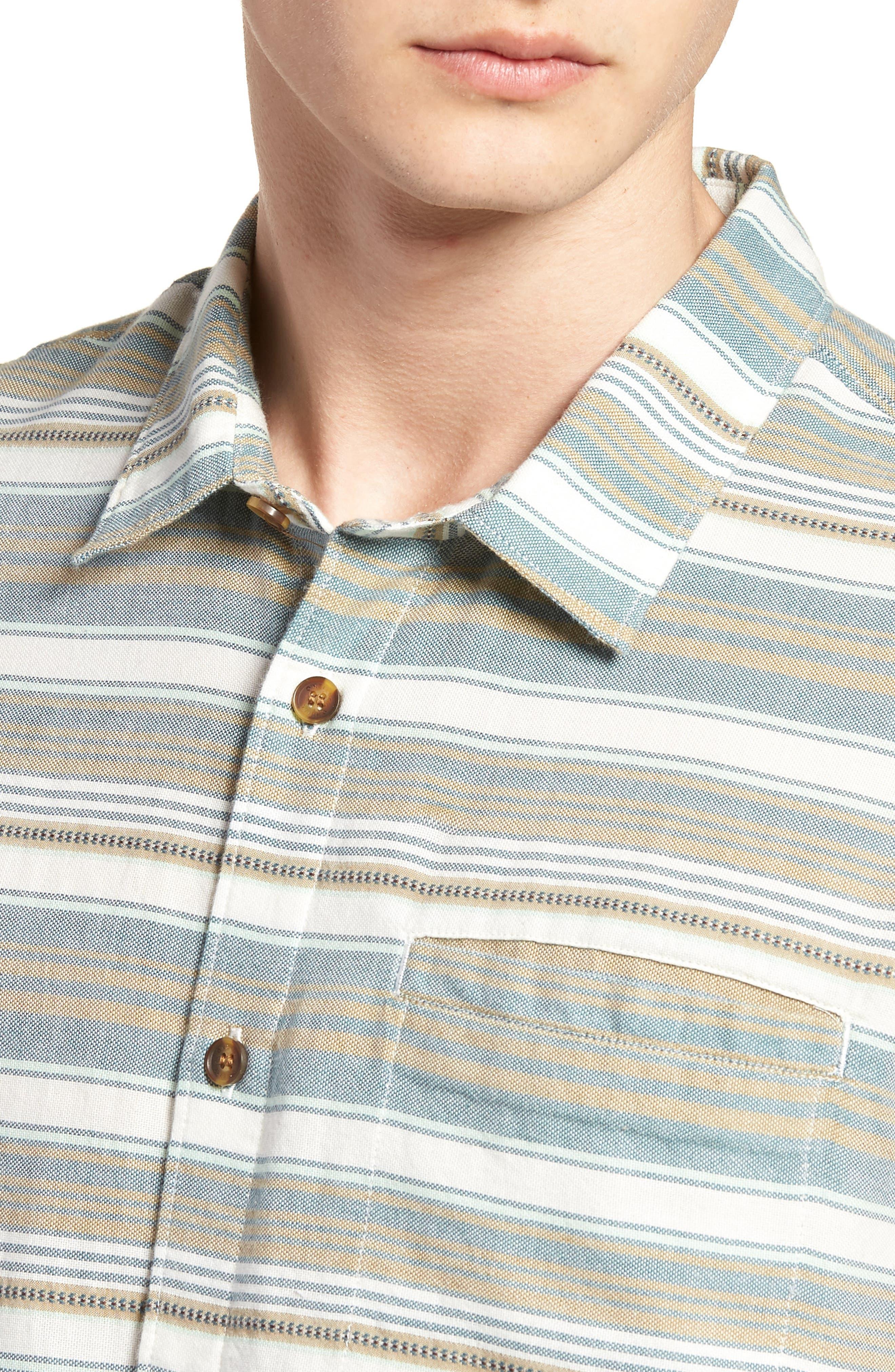 Currington Short Sleeve Shirt,                             Alternate thumbnail 4, color,                             Khaki