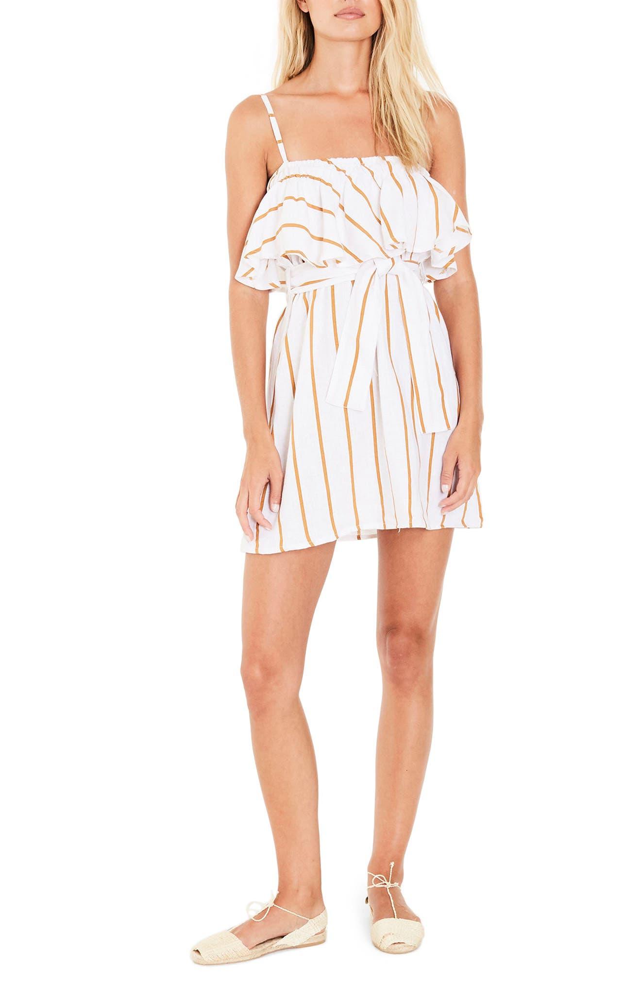 FAITHFULL THE BRAND Beachwood Stripe Linen Dress