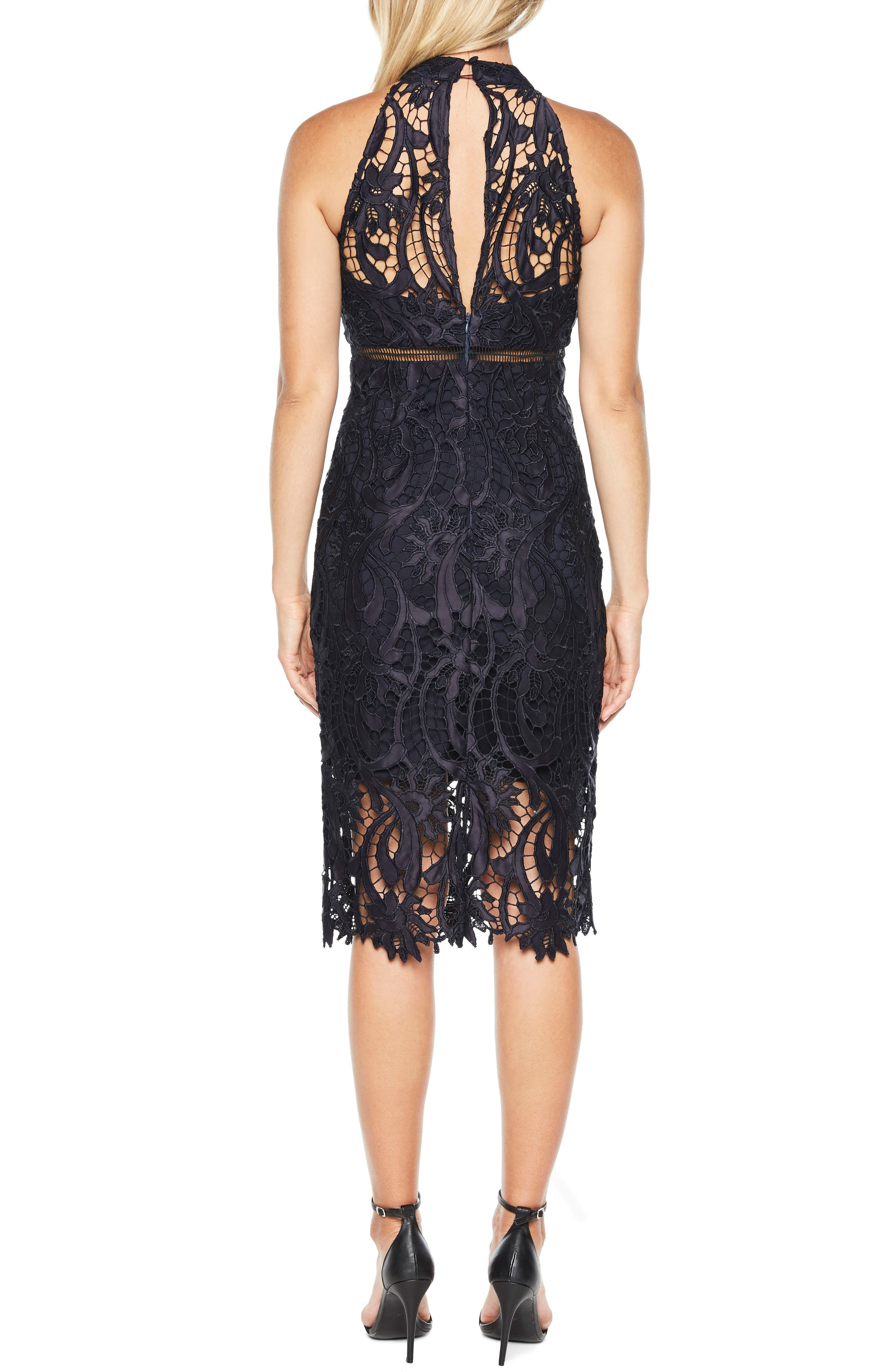 Alternate Image 2  - Bardot Isa Lace Halter Dress