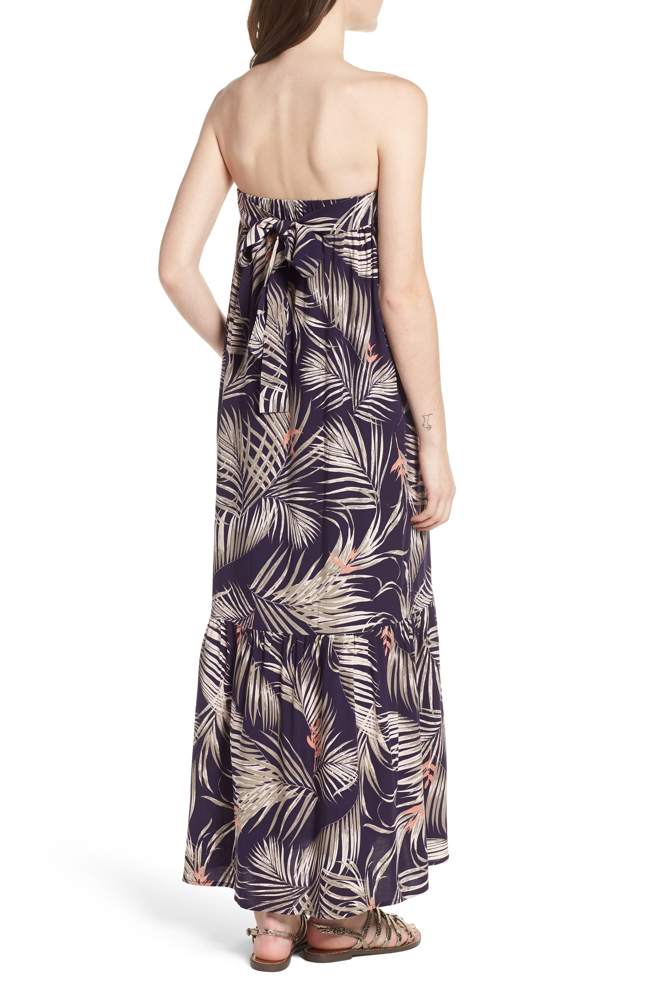 Sunset Cover-Up Maxi Dress,                             Alternate thumbnail 2, color,                             Latona Palm Evening Blue