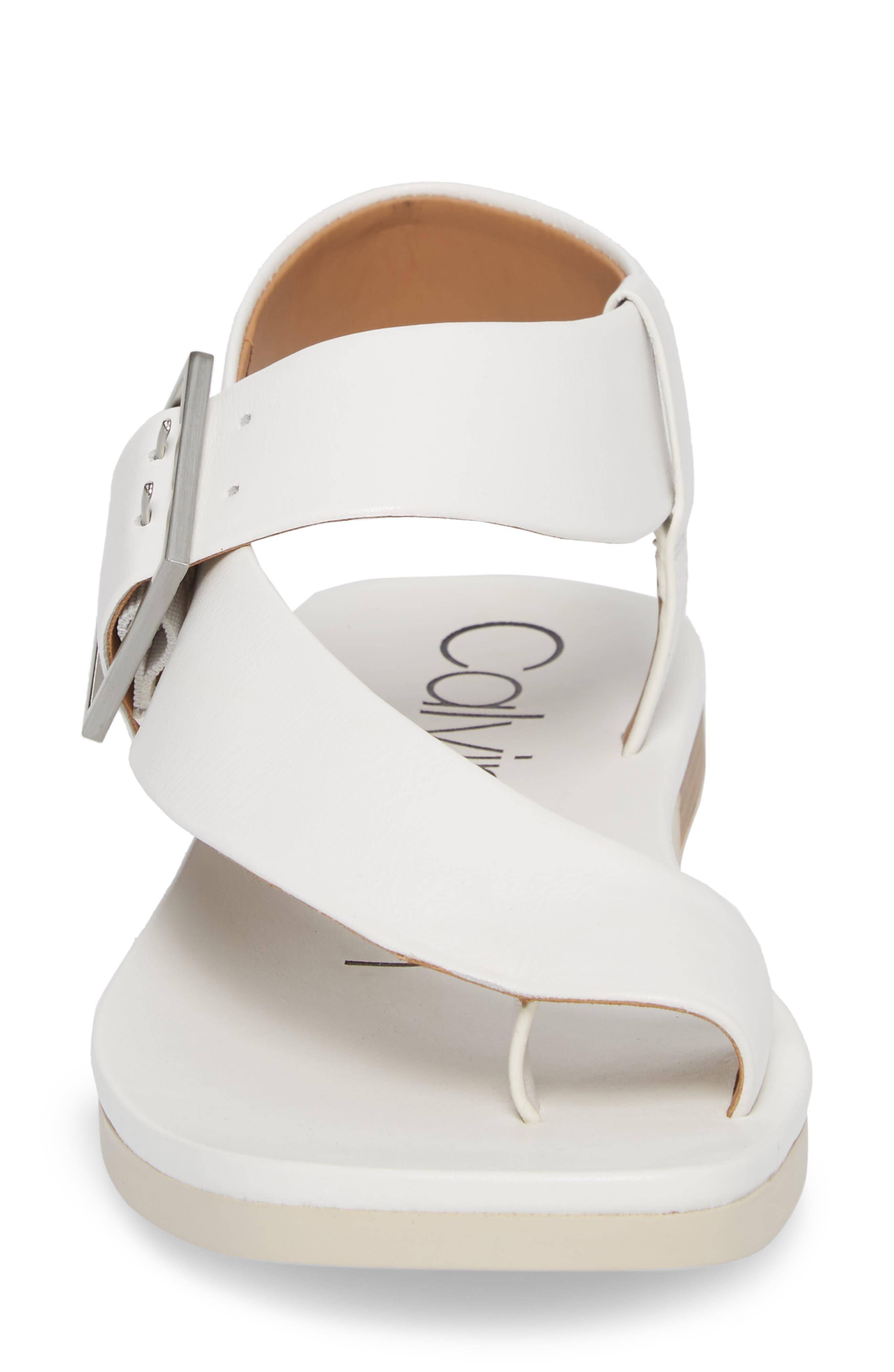 Rivita Sandal,                             Alternate thumbnail 4, color,                             Platinum White Leather