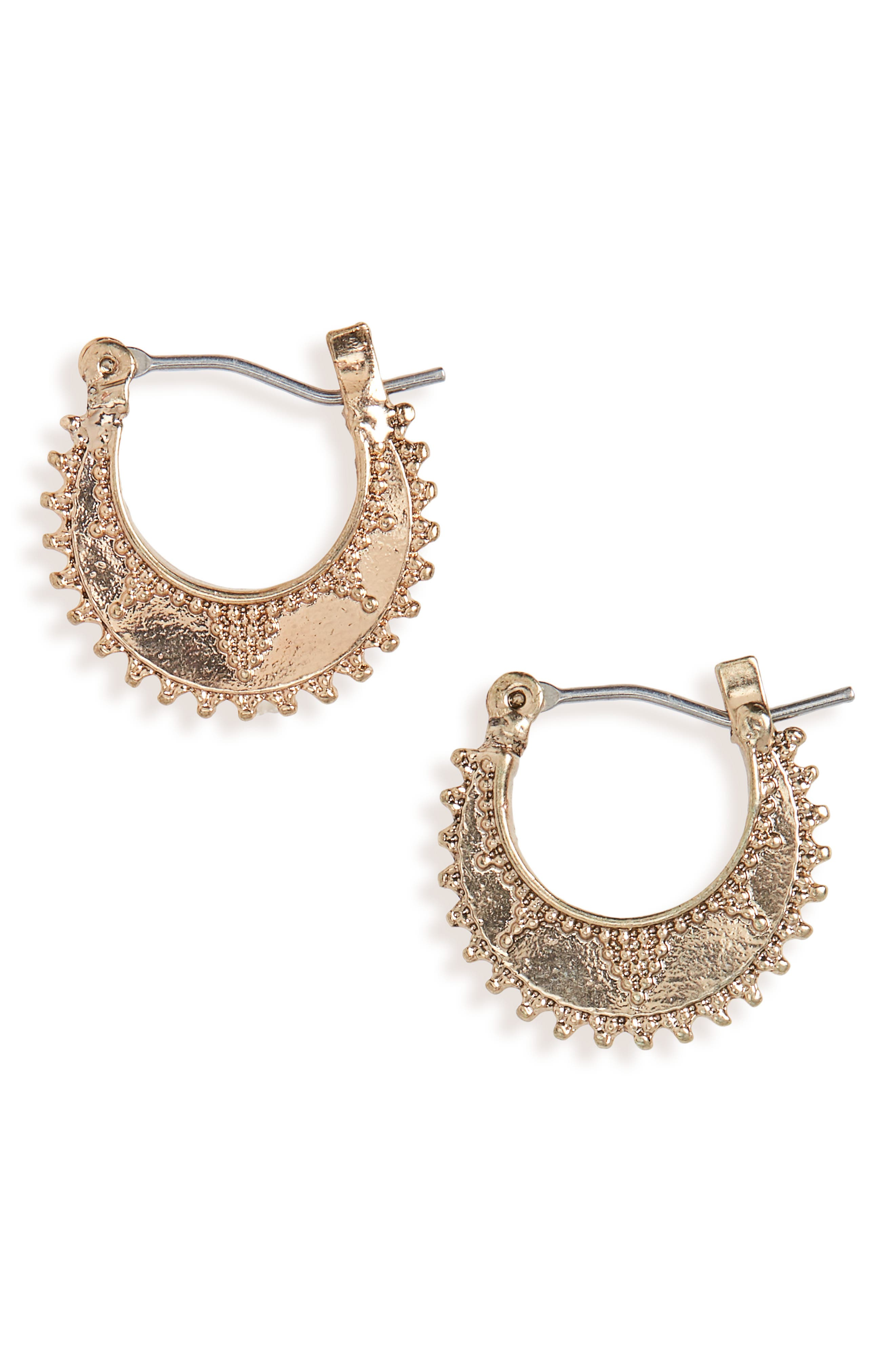 Embellished Hoops,                             Main thumbnail 1, color,                             Gold
