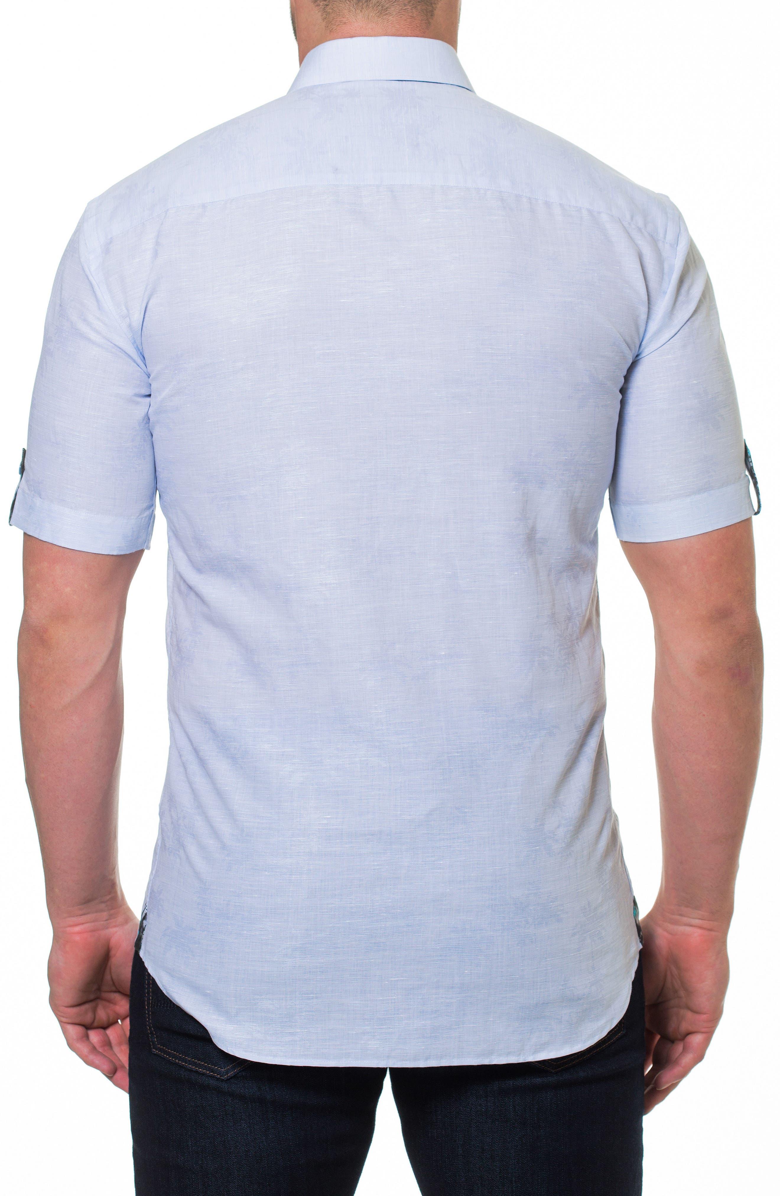 Fresh Palm Sport Shirt,                             Alternate thumbnail 2, color,                             Blue