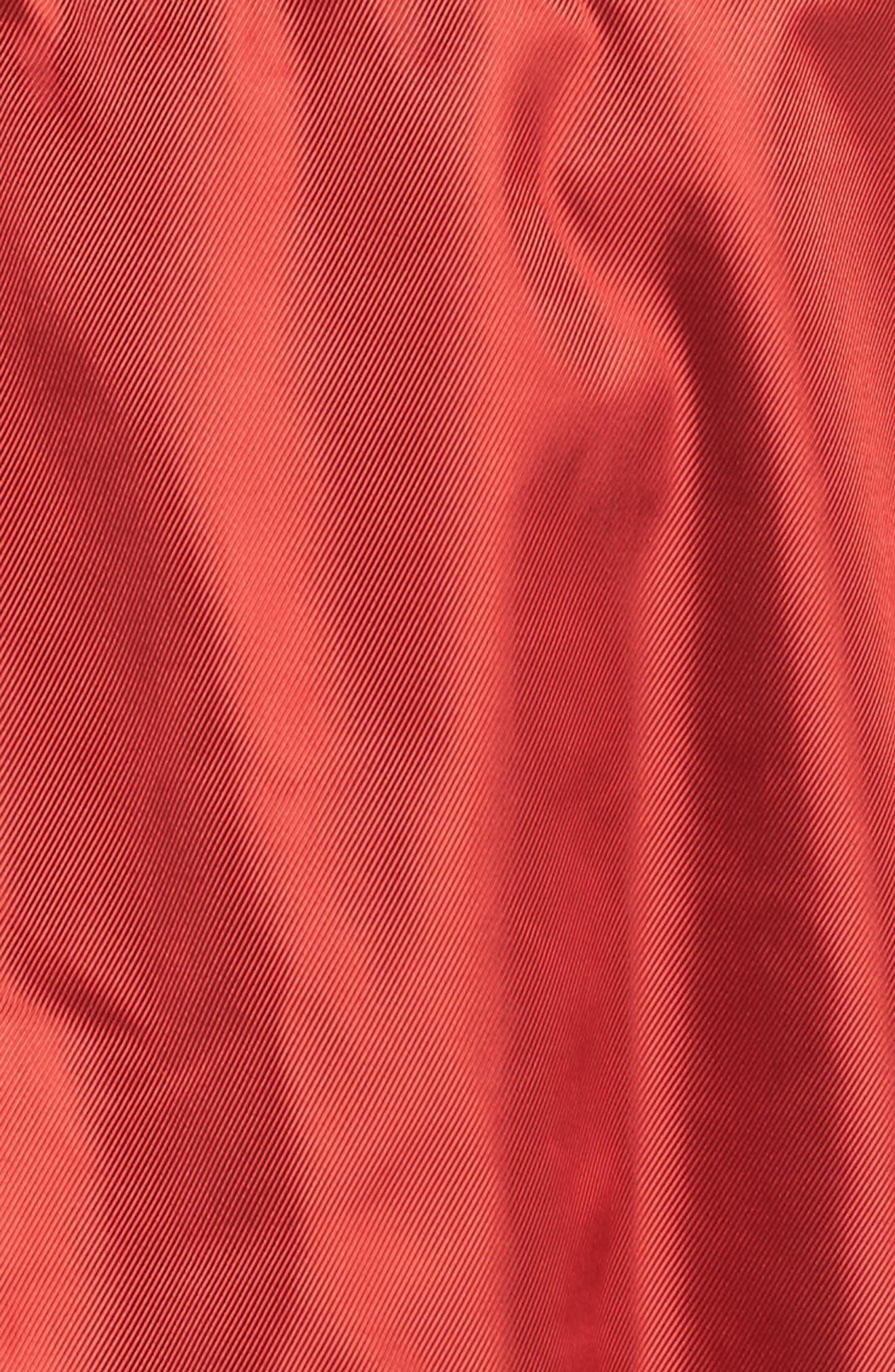 NikeLab Collection Satin Half Zip Top,                             Alternate thumbnail 6, color,                             Gym Red/ Black