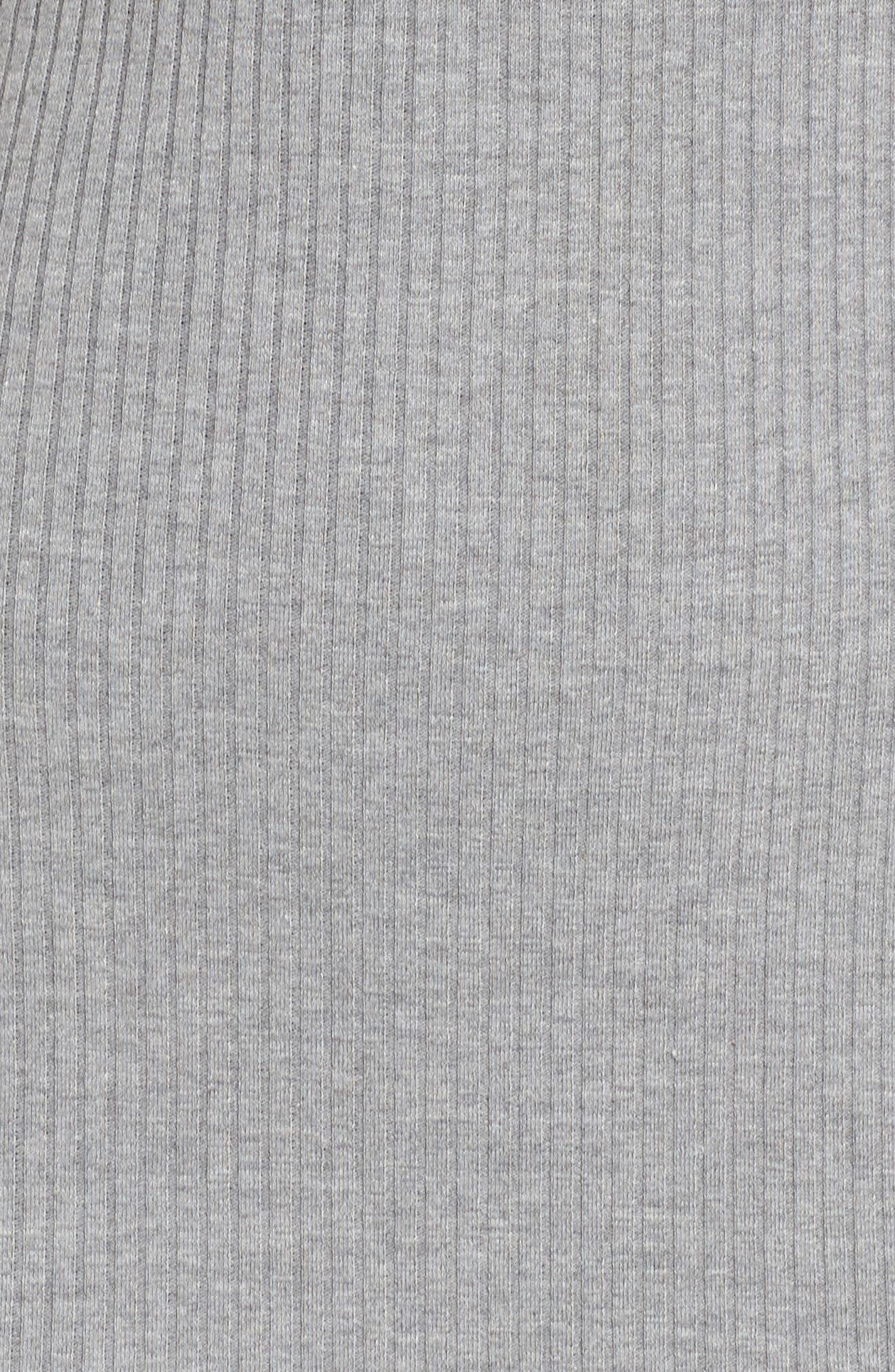 Tommy Rib Knit Tank Dress,                             Alternate thumbnail 6, color,                             Mid Grey Mel