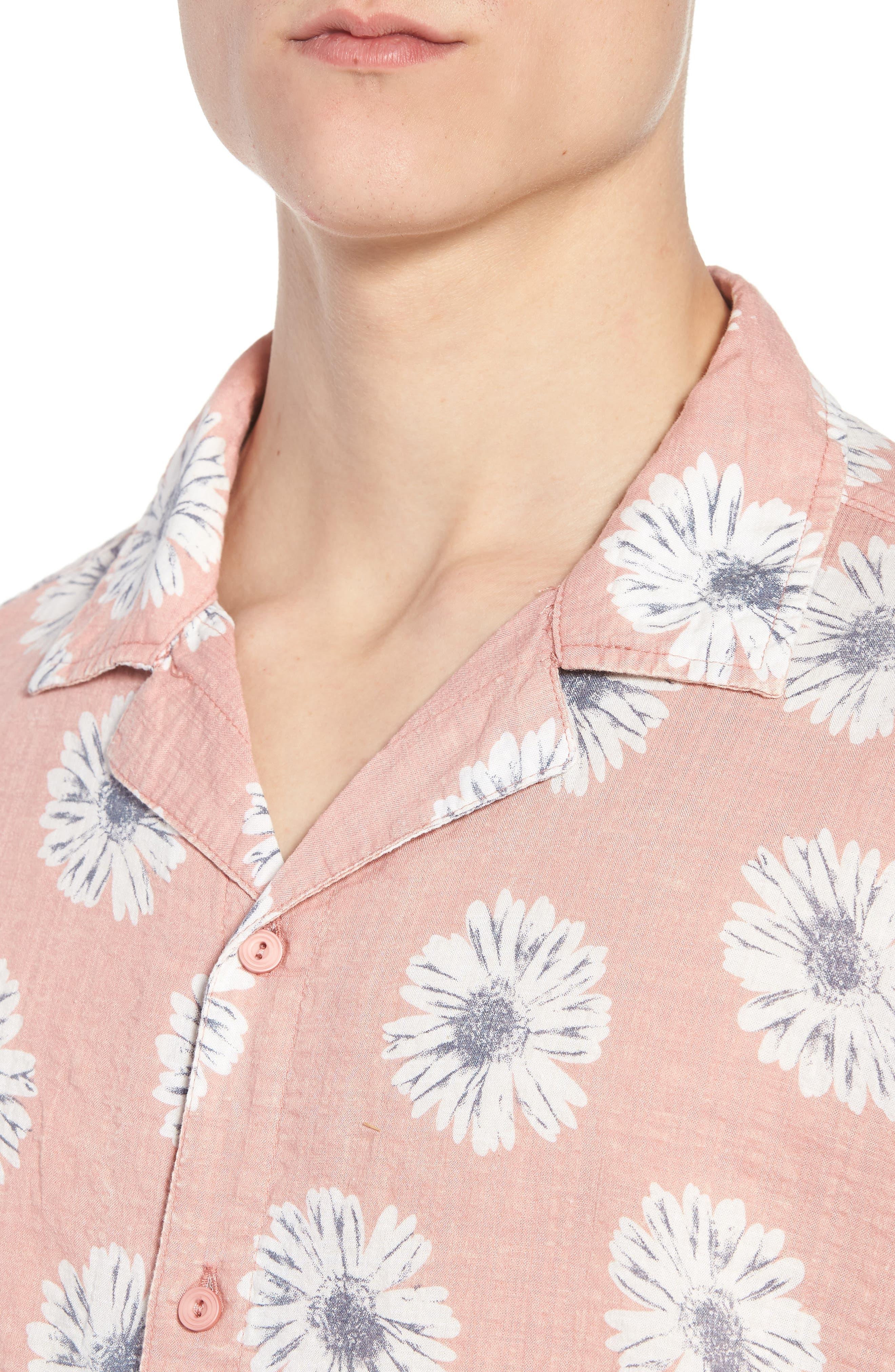 Ferris Woven Shirt,                             Alternate thumbnail 4, color,                             Pink