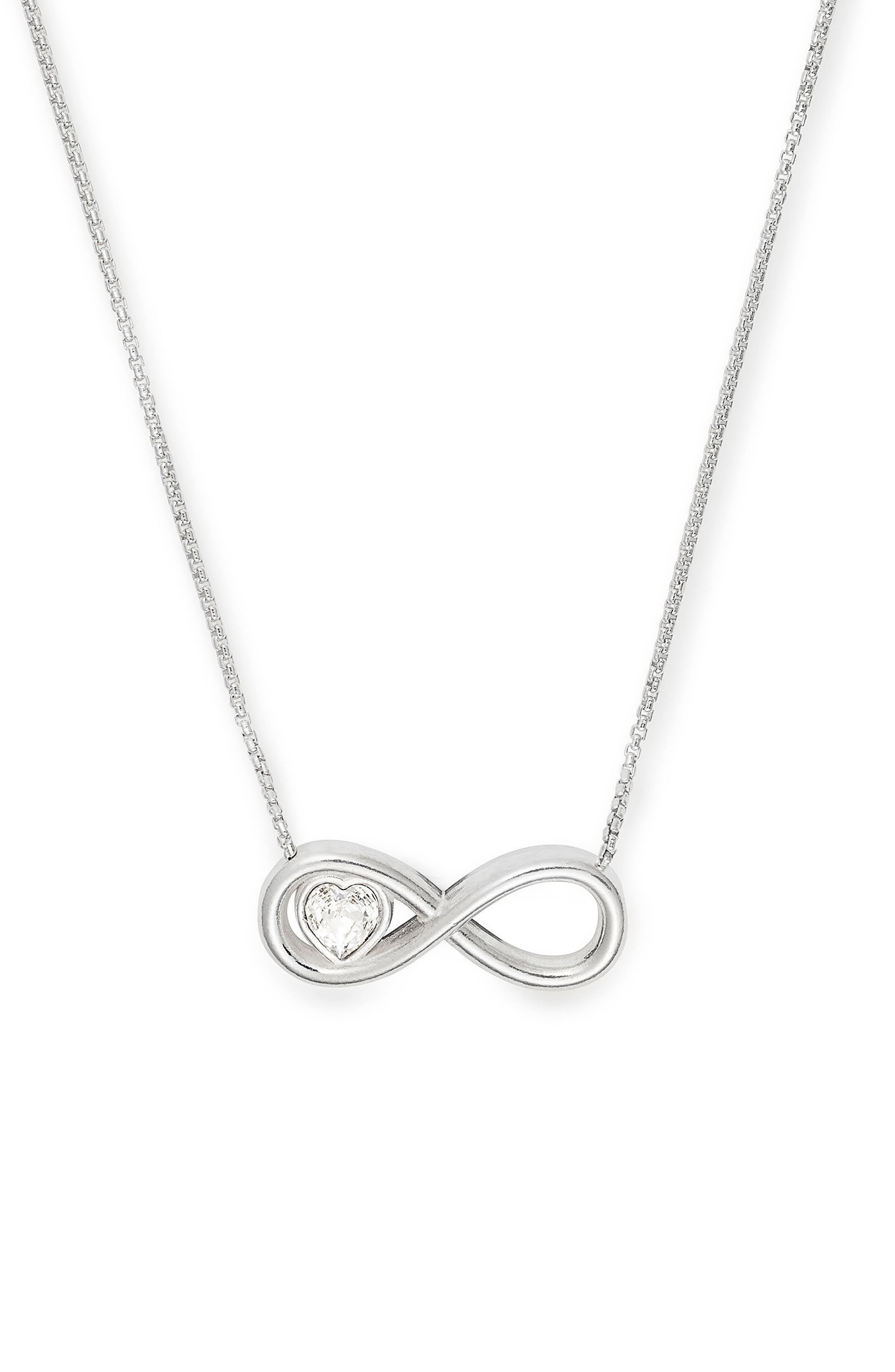 Infinite Love Necklace,                         Main,                         color, Silver
