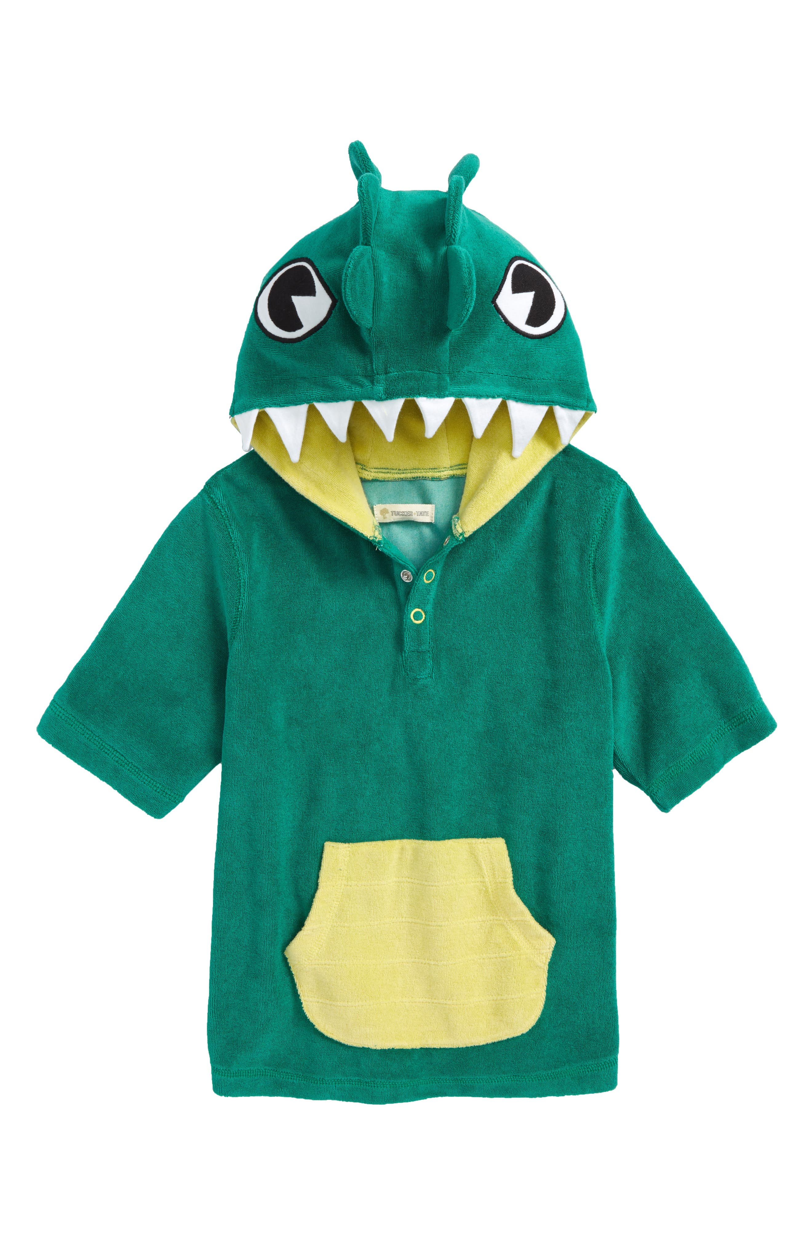 Green Lake Gator Towel Cover-Up,                             Main thumbnail 1, color,                             Green Lake Gator