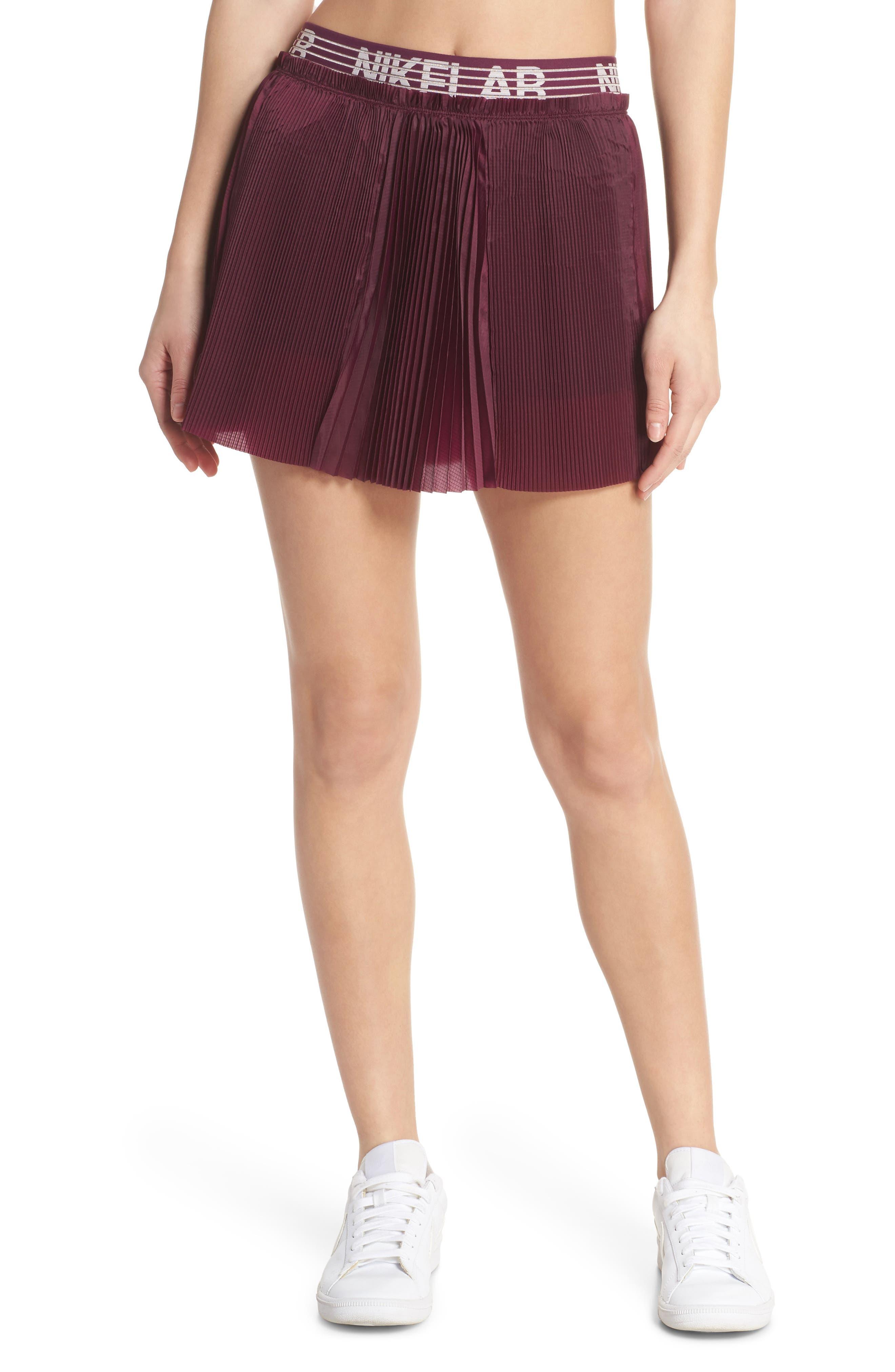 NikeLab Collection Dri-FIT Tennis Skirt,                             Main thumbnail 1, color,                             Bordeaux
