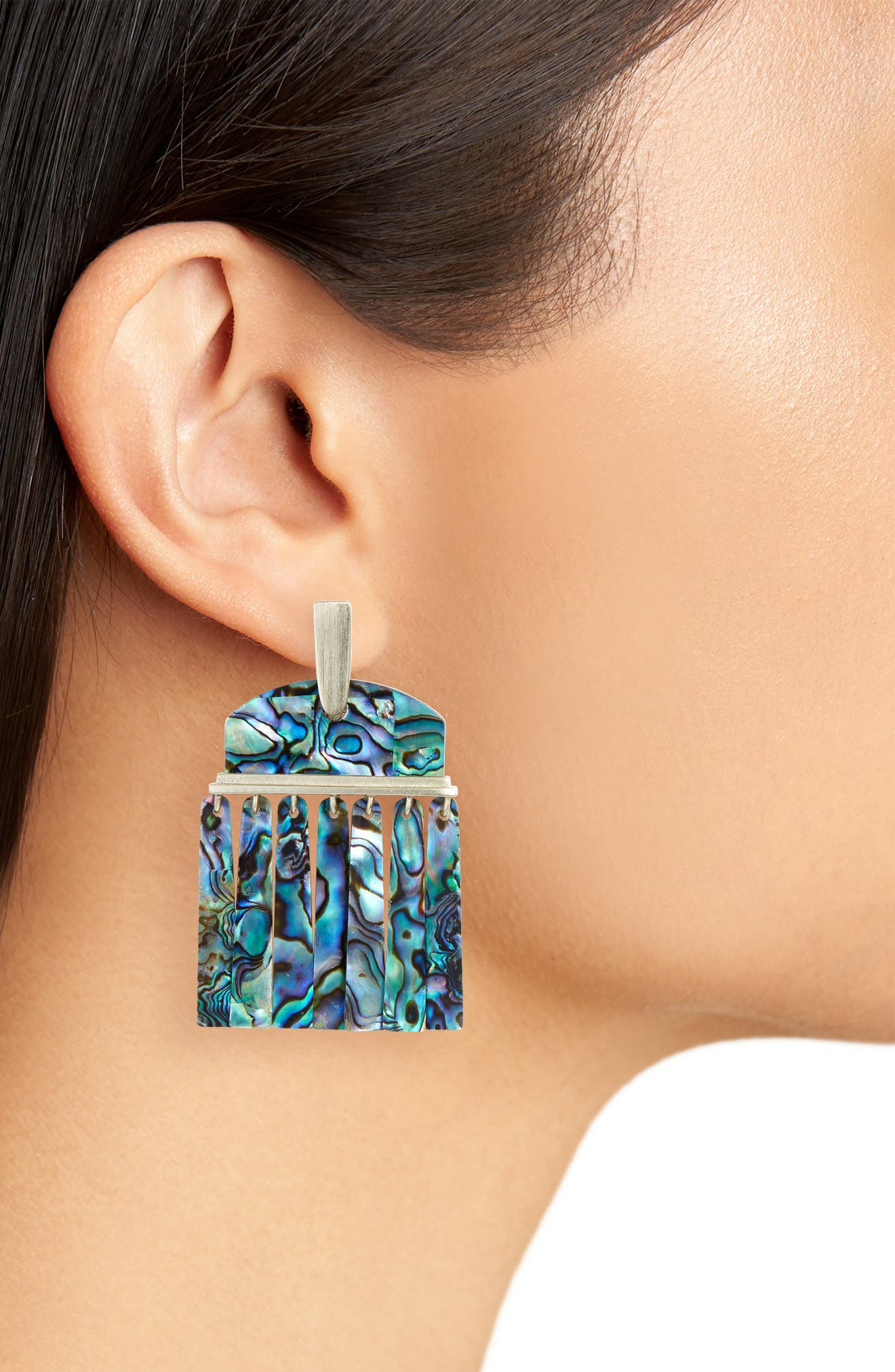 Layne Earrings,                             Alternate thumbnail 2, color,                             Abalone Shell/ Gold