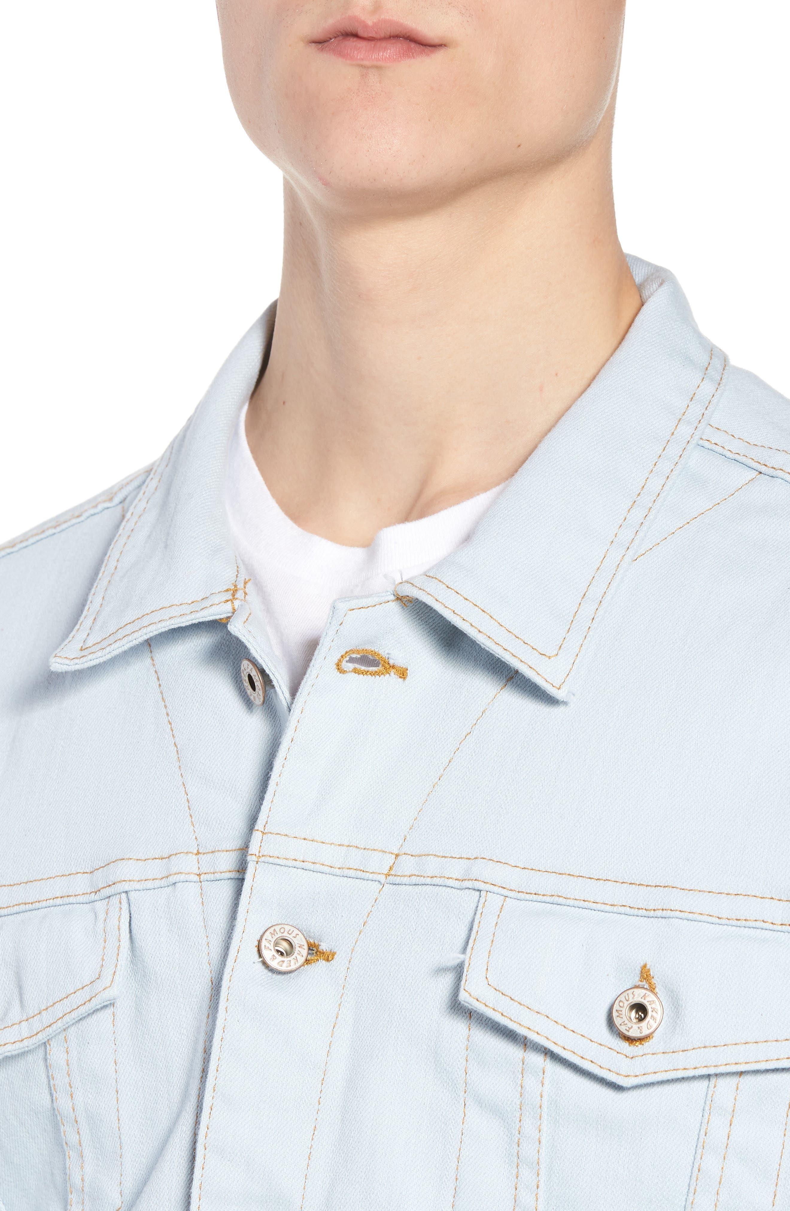 Oversize Jacket,                             Alternate thumbnail 4, color,                             Powder Blue