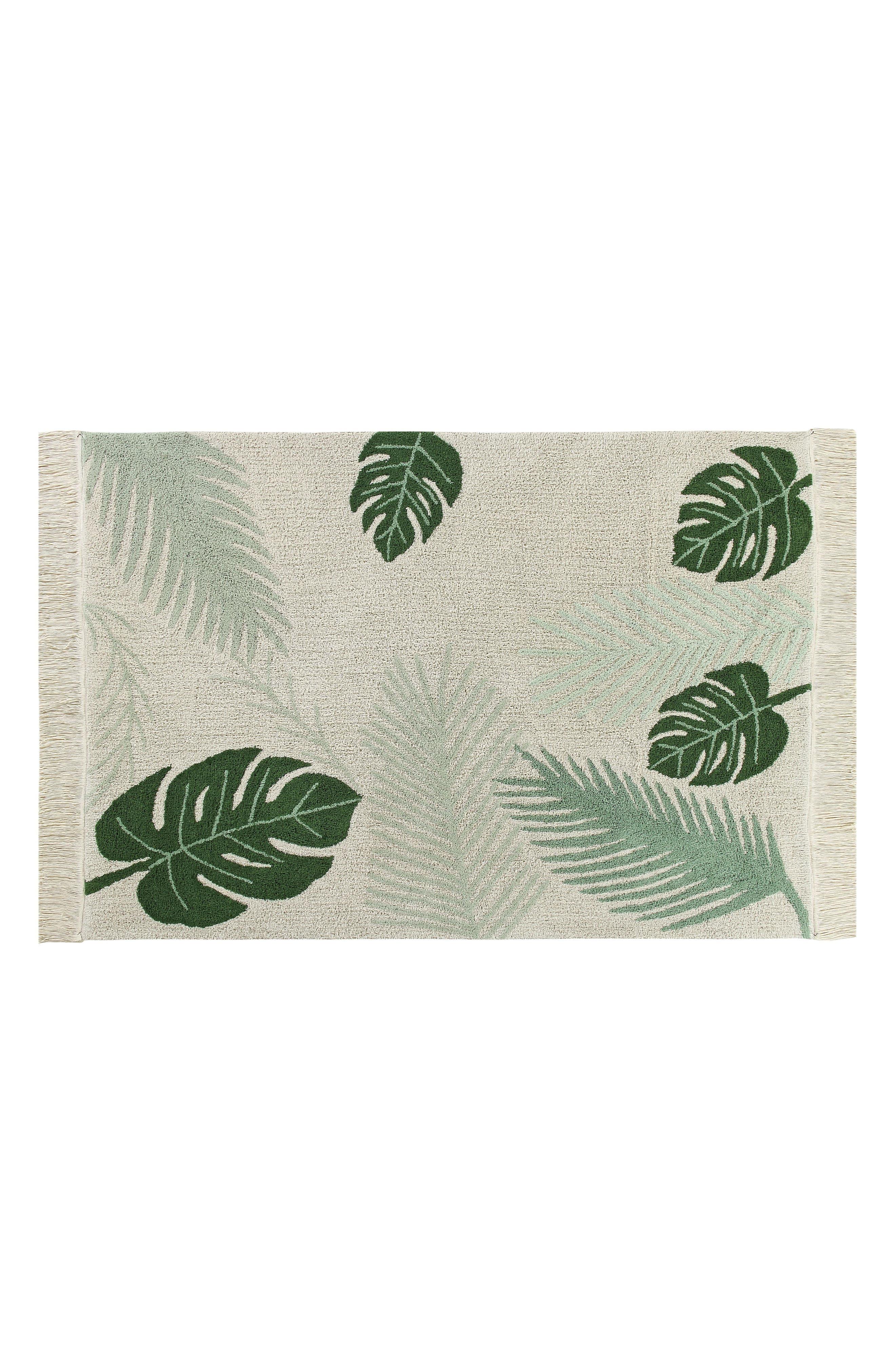 Tropical Rug,                             Main thumbnail 1, color,                             Tropical Green