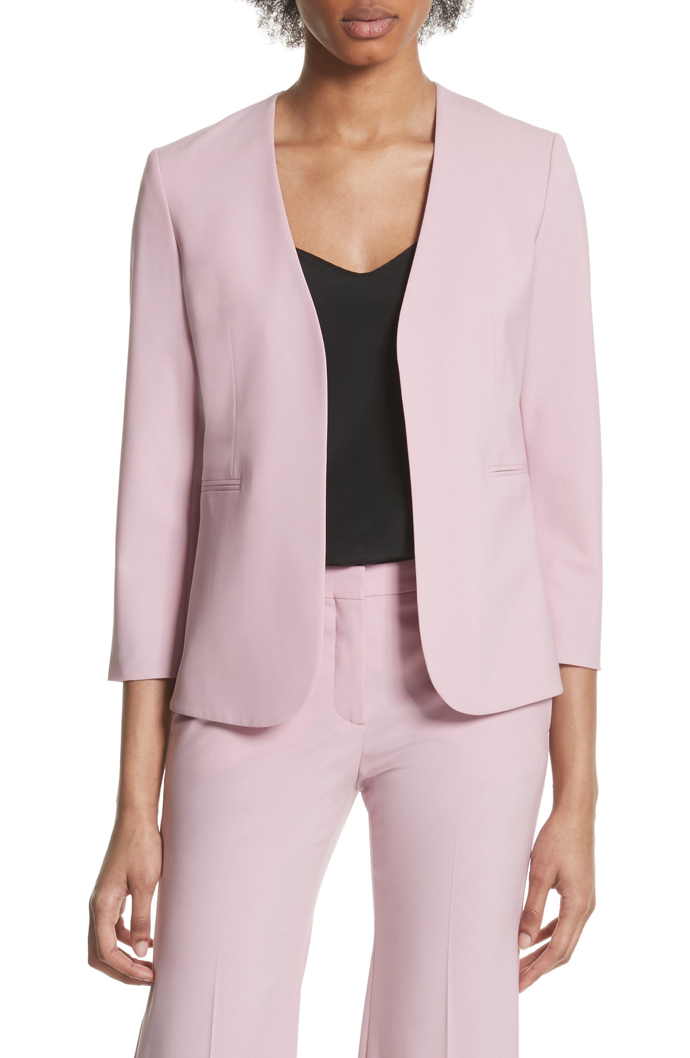 Lindrayia B Good Wool Suit Jacket,                             Main thumbnail 1, color,                             Berry Tint