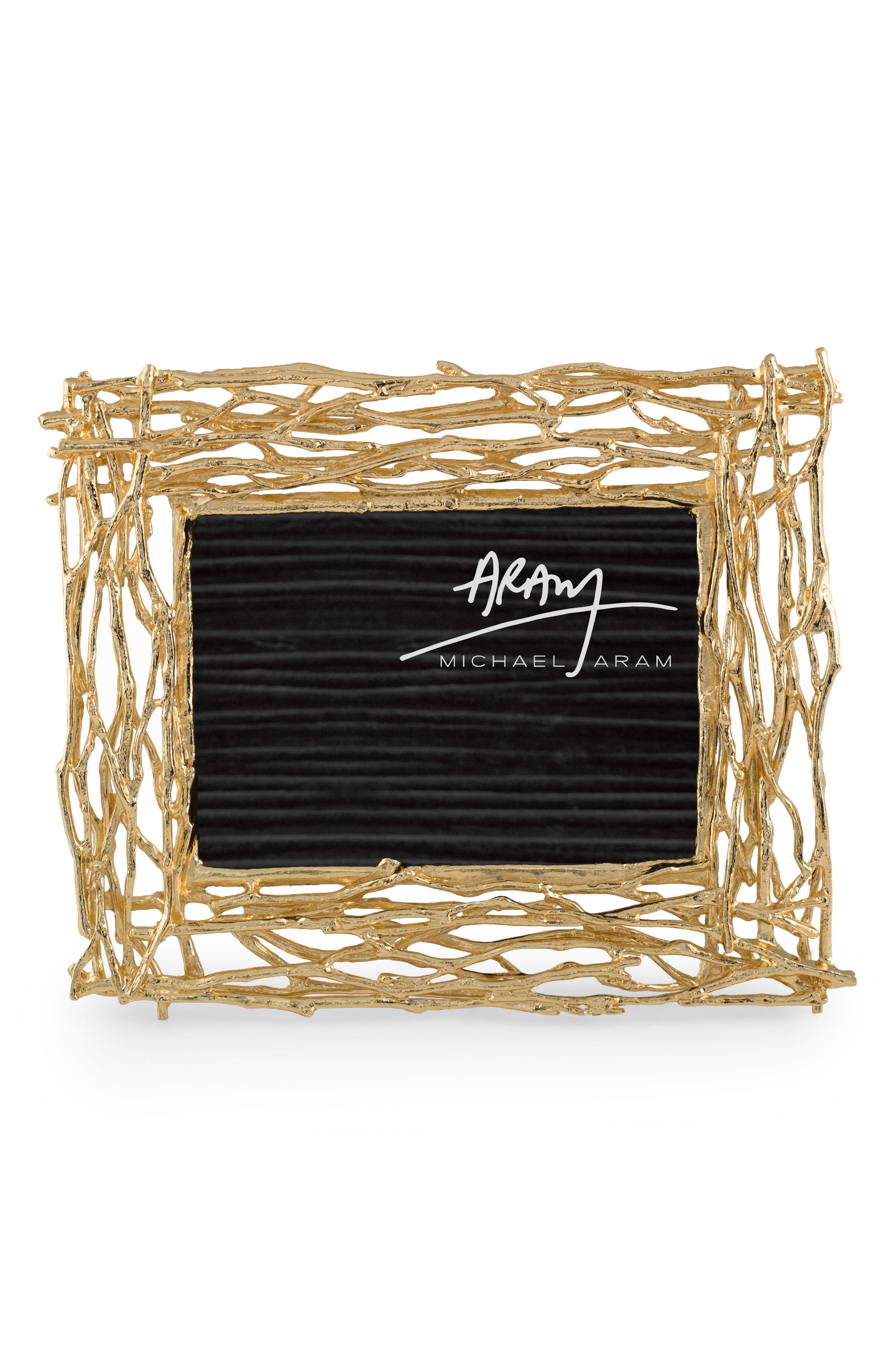 Twig Picture Frame,                         Main,                         color, Gold