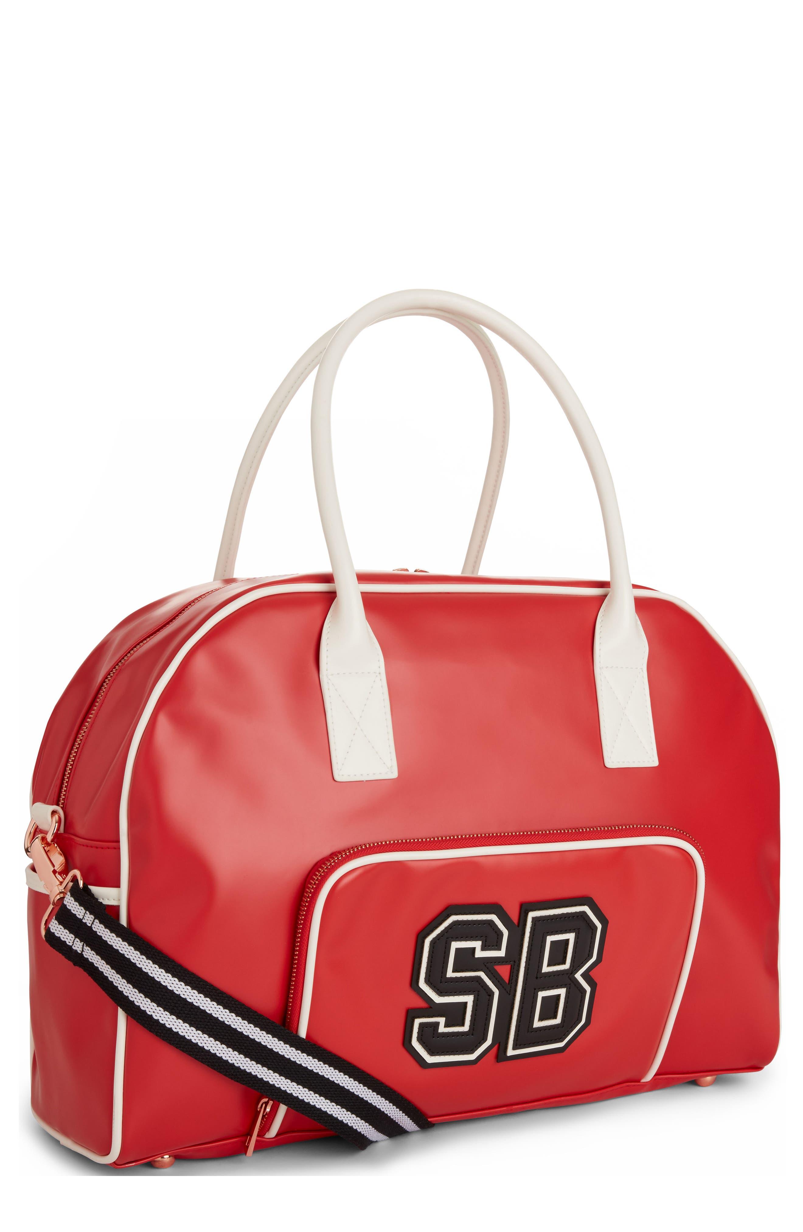 Bowler Bag,                             Main thumbnail 1, color,                             Scarlet Red