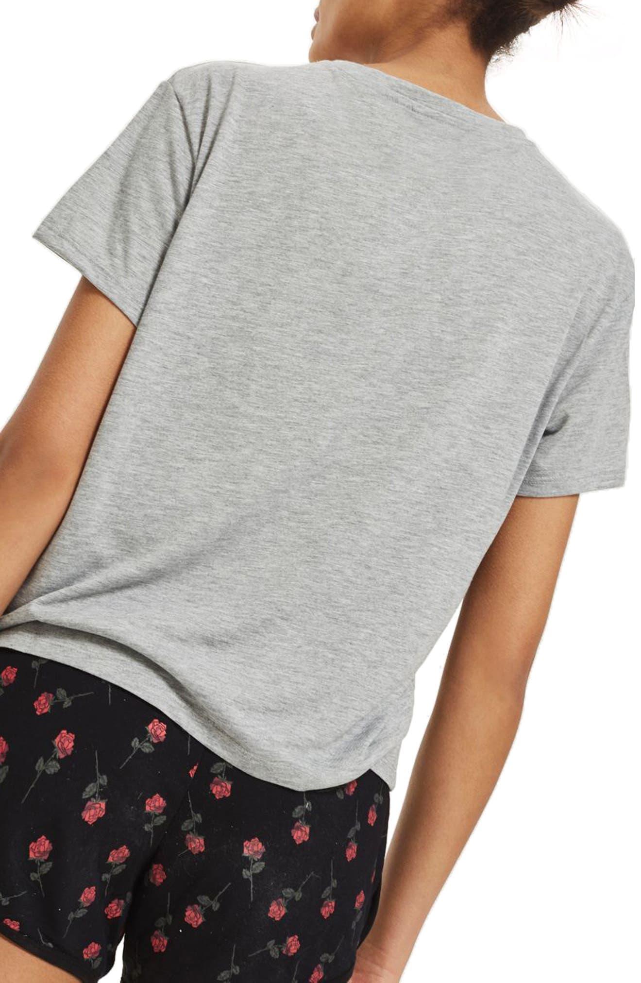 Lonely Hearts Club Short Pajamas,                             Alternate thumbnail 2, color,                             Grey