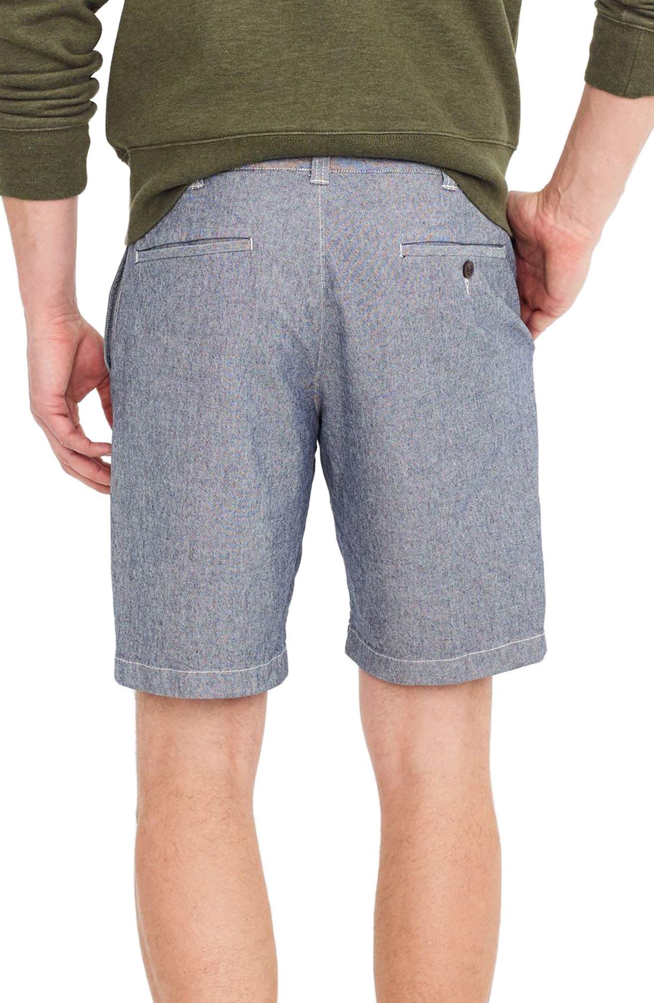 J.Crew Stretch Chambray Shorts,                             Alternate thumbnail 2, color,                             Royal Navy