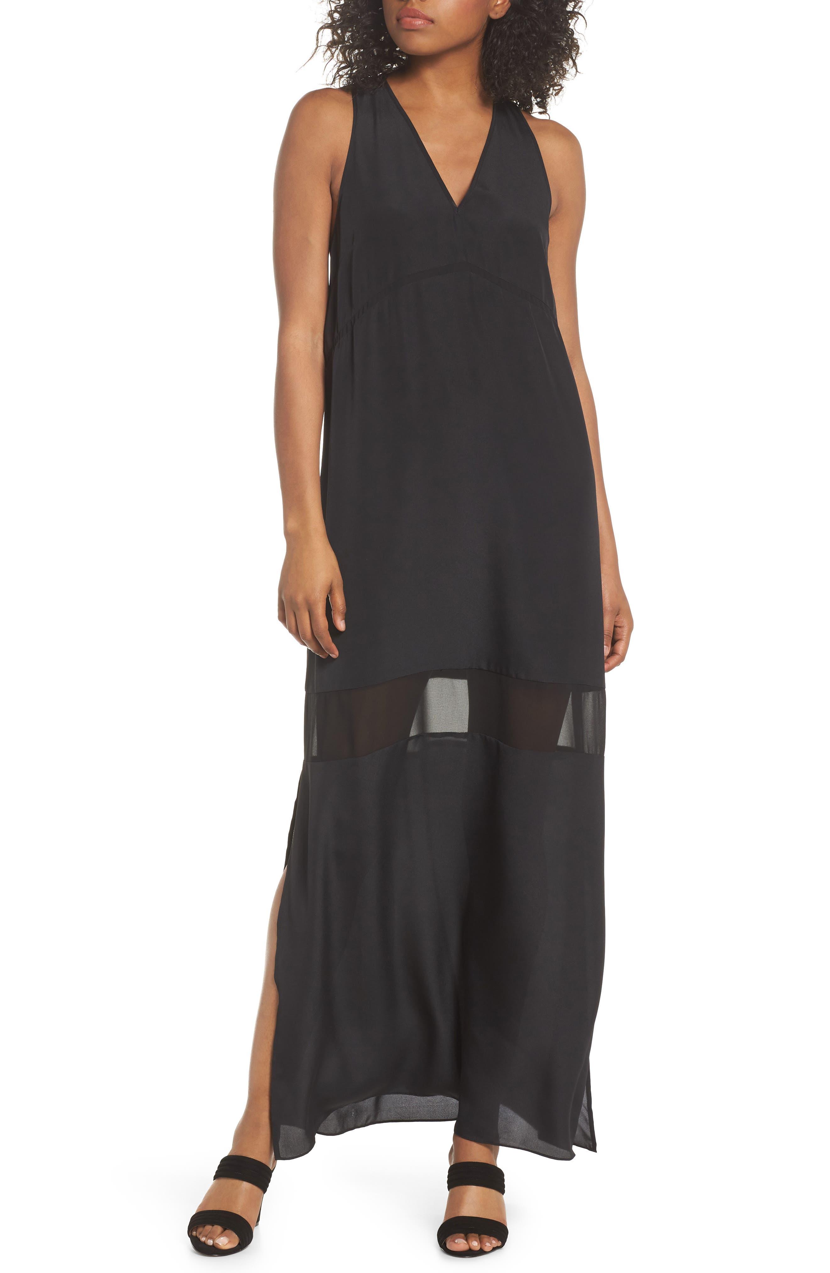 Hampton Maxi Dress,                             Main thumbnail 1, color,                             Black