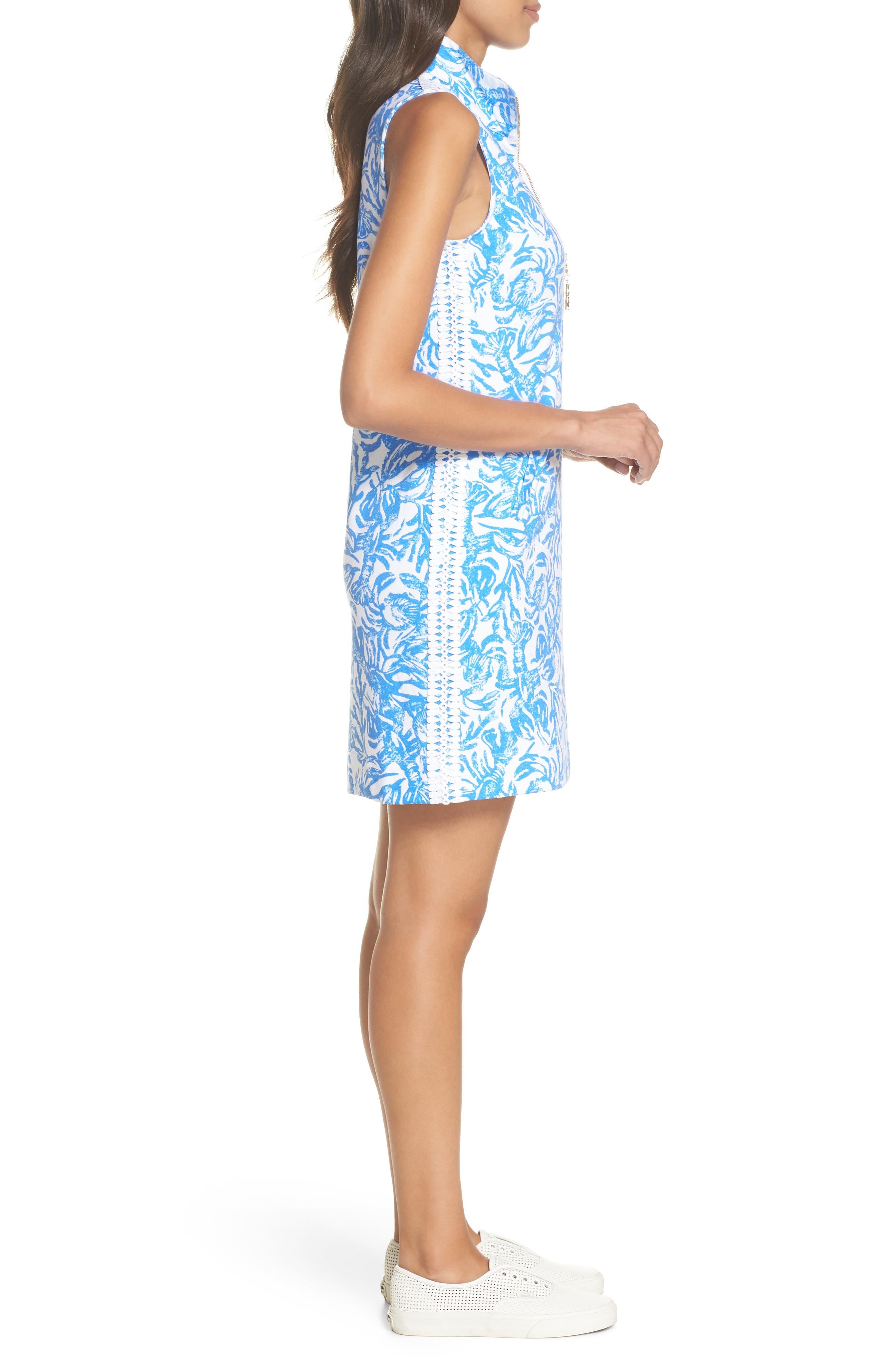 Skipper Sleeveless Shift Dress,                             Alternate thumbnail 3, color,                             Resort White On A Roll