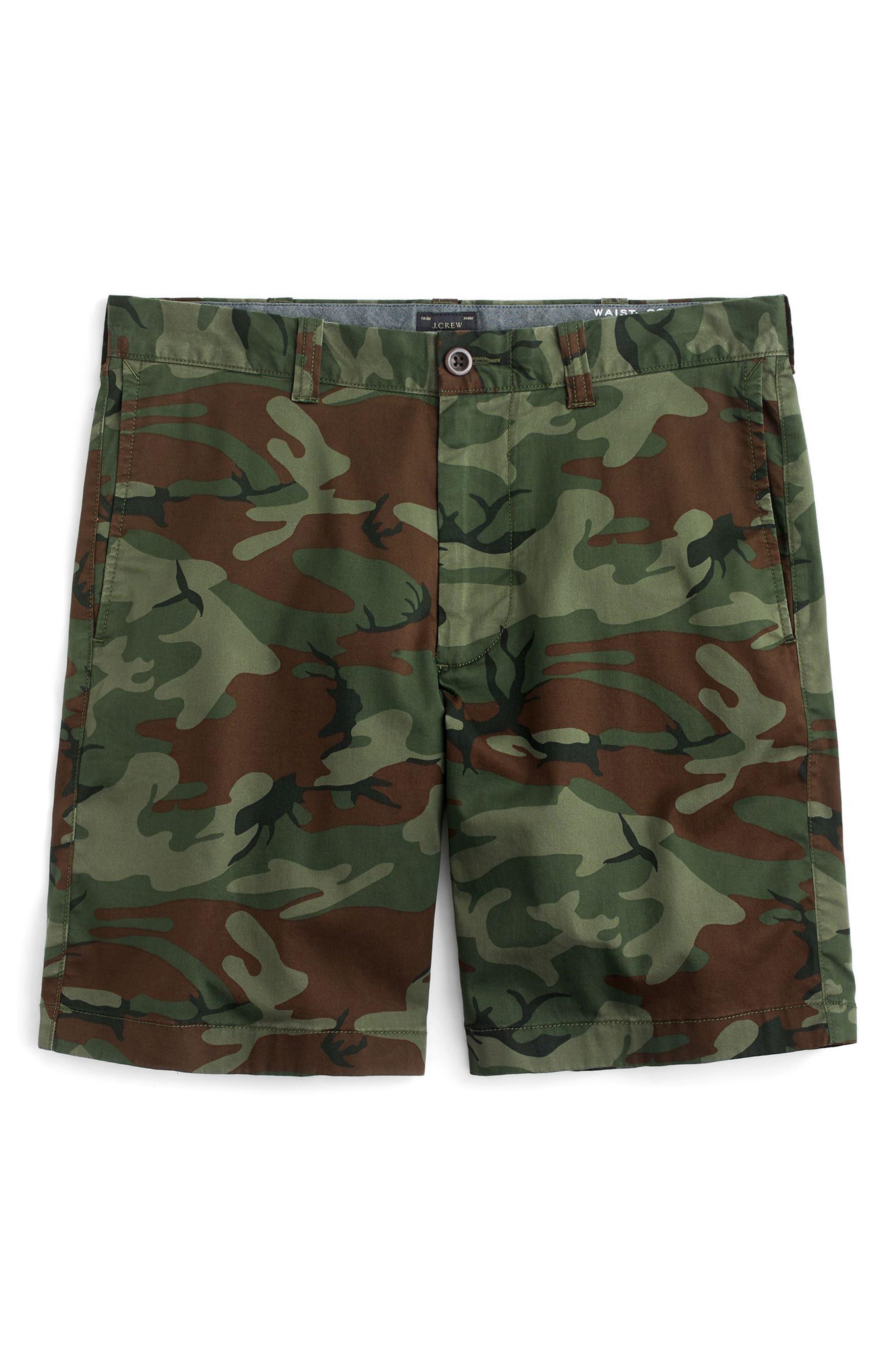 J.Crew Stretch Camo Shorts,                             Alternate thumbnail 4, color,                             Camo Wamo